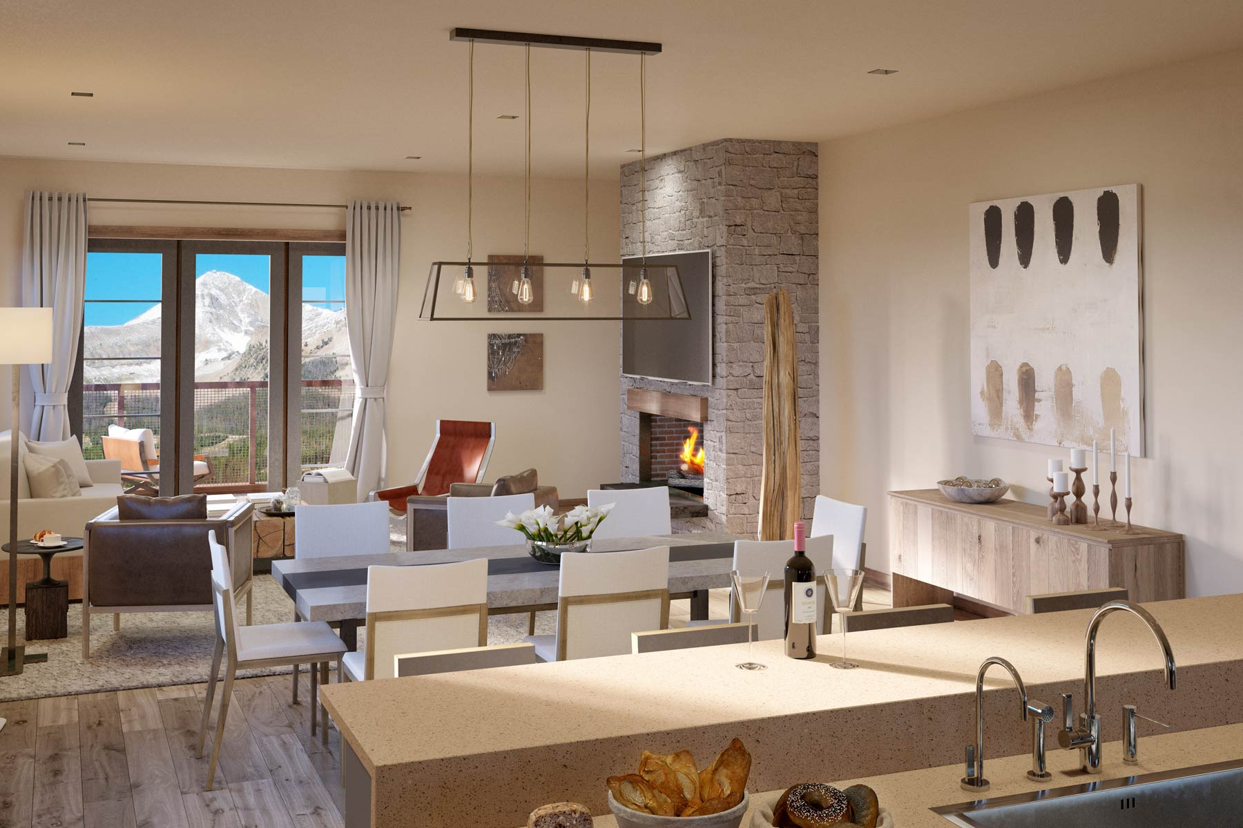 Condominio por un Venta en New Construction Mountain Lake Condo 2 Summit View Road, Unit 303B Big Sky, Montana, 59716 Estados Unidos