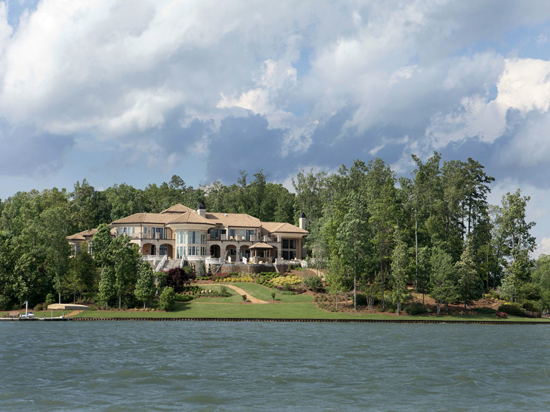 Single Family Home for Active at Lakefront Opulence 1270 Club Cove Drive Greensboro, Georgia 30642 United States