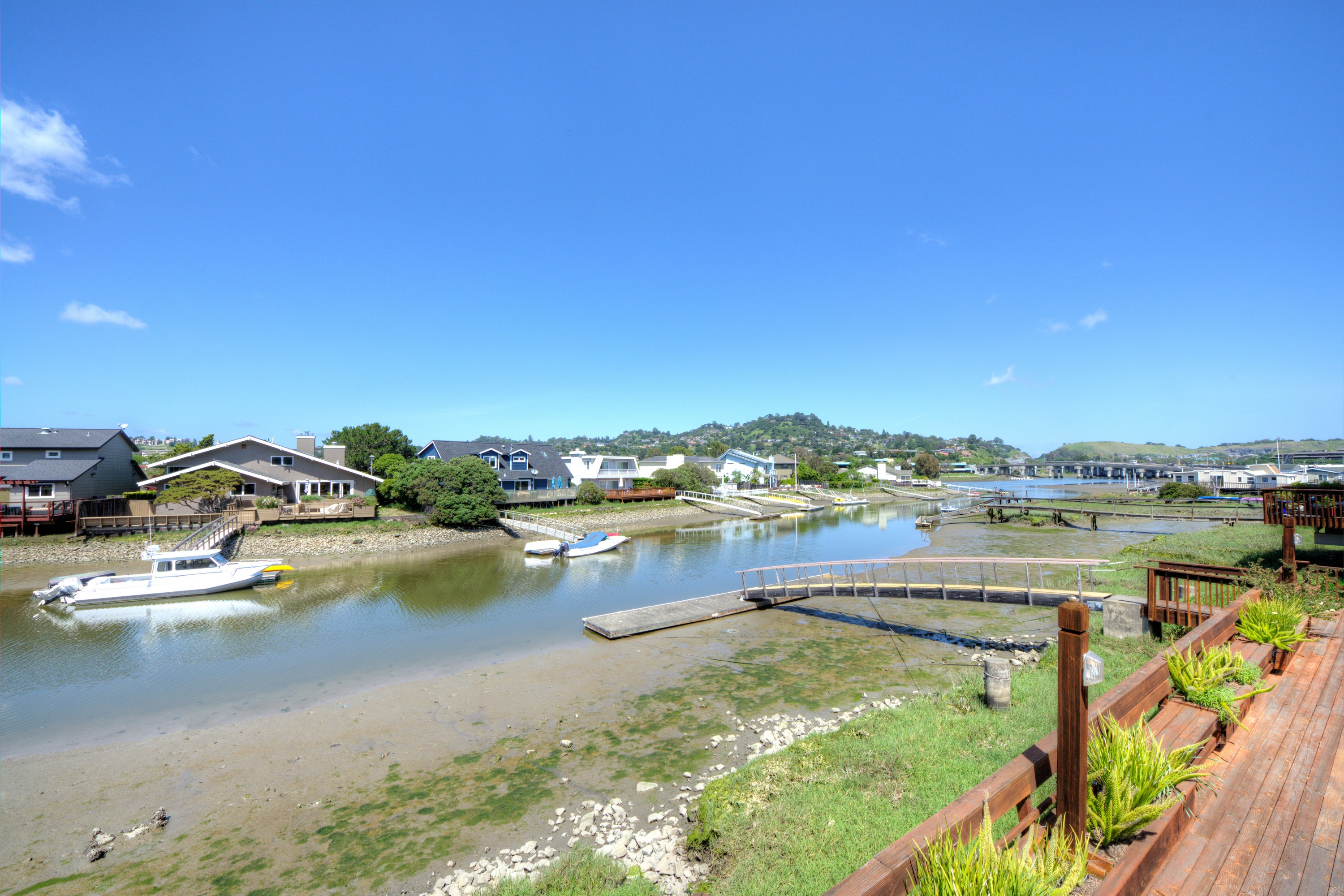 Townhouse for Sale at Gorgeous Waterfront End Unit Townhome 64 Lucky Drive Corte Madera, California, 94925 United States