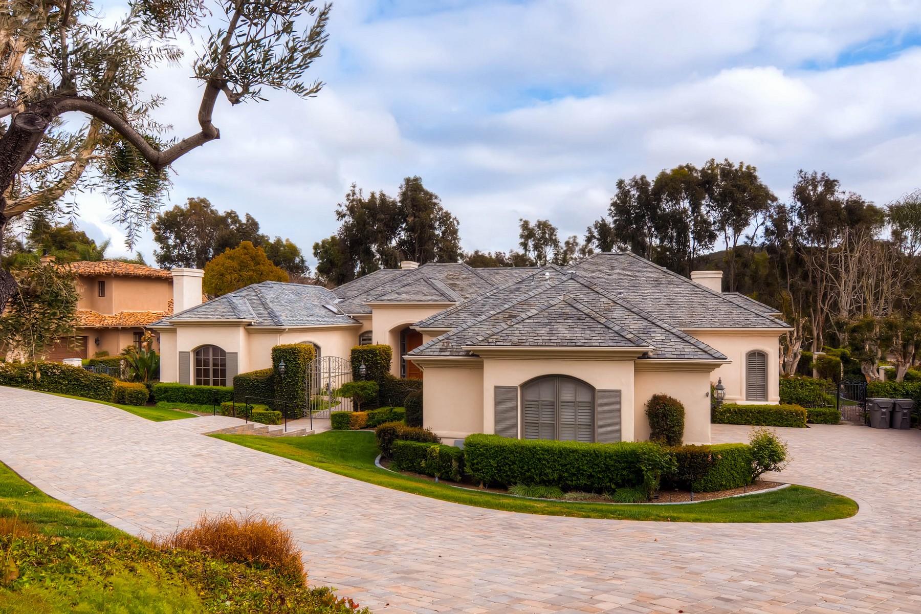 Vivienda unifamiliar por un Venta en 14445 Emerald Lane Rancho Santa Fe, California, 92067 Estados Unidos