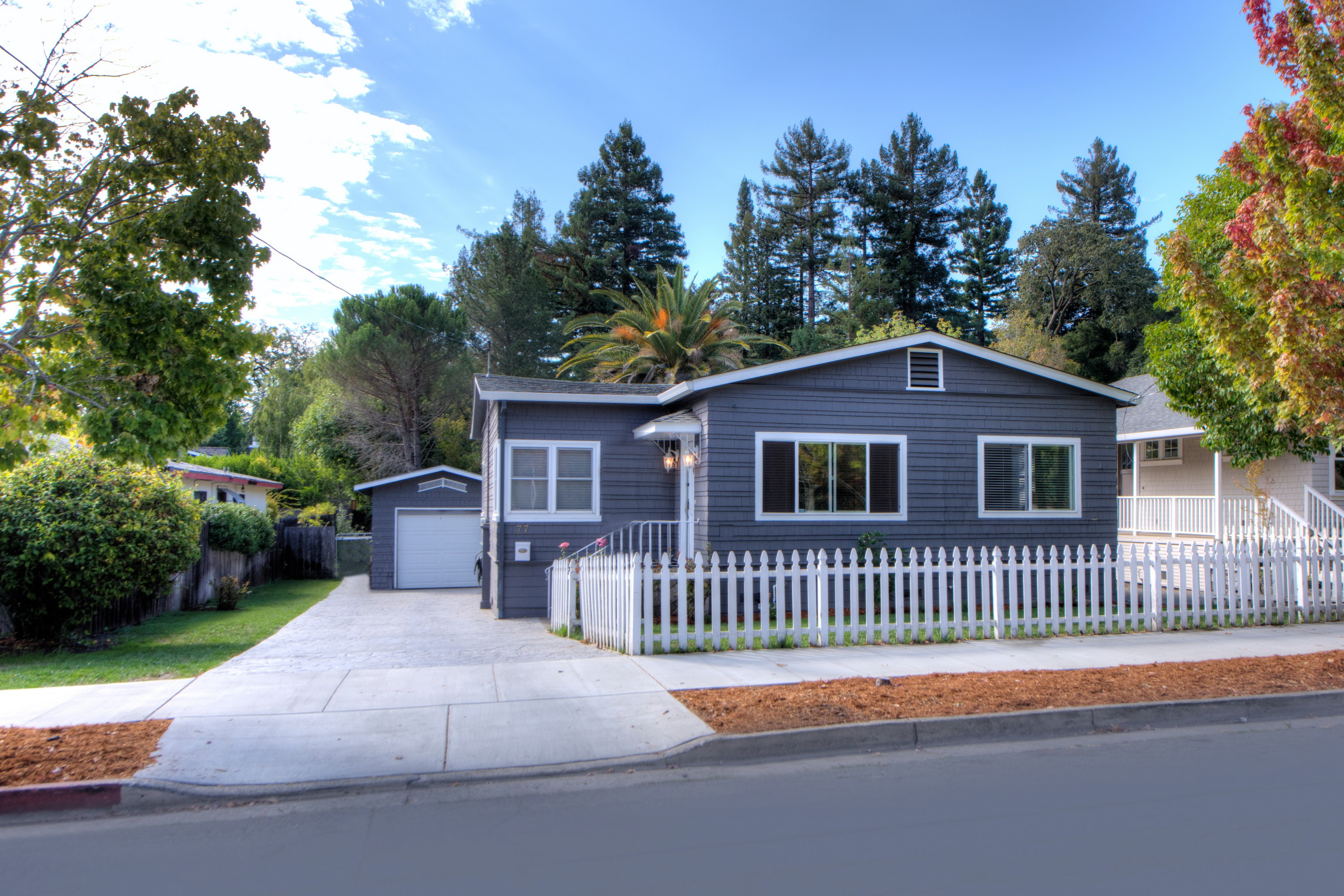 Single Family Home for Sale at Contemporary Cottage on Large Lot 77 Bolinas Avenue Ross, California 94957 United States