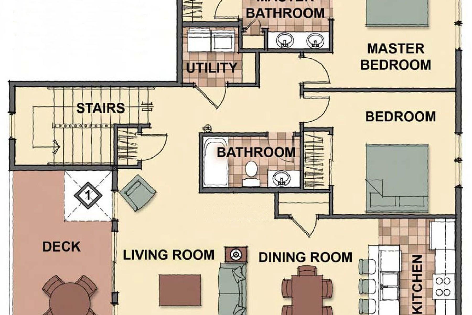 Appartement en copropriété pour l Vente à The Condos at Mill River 4577 W Greenchain Loop #1 Coeur D Alene, Idaho 83814 États-Unis