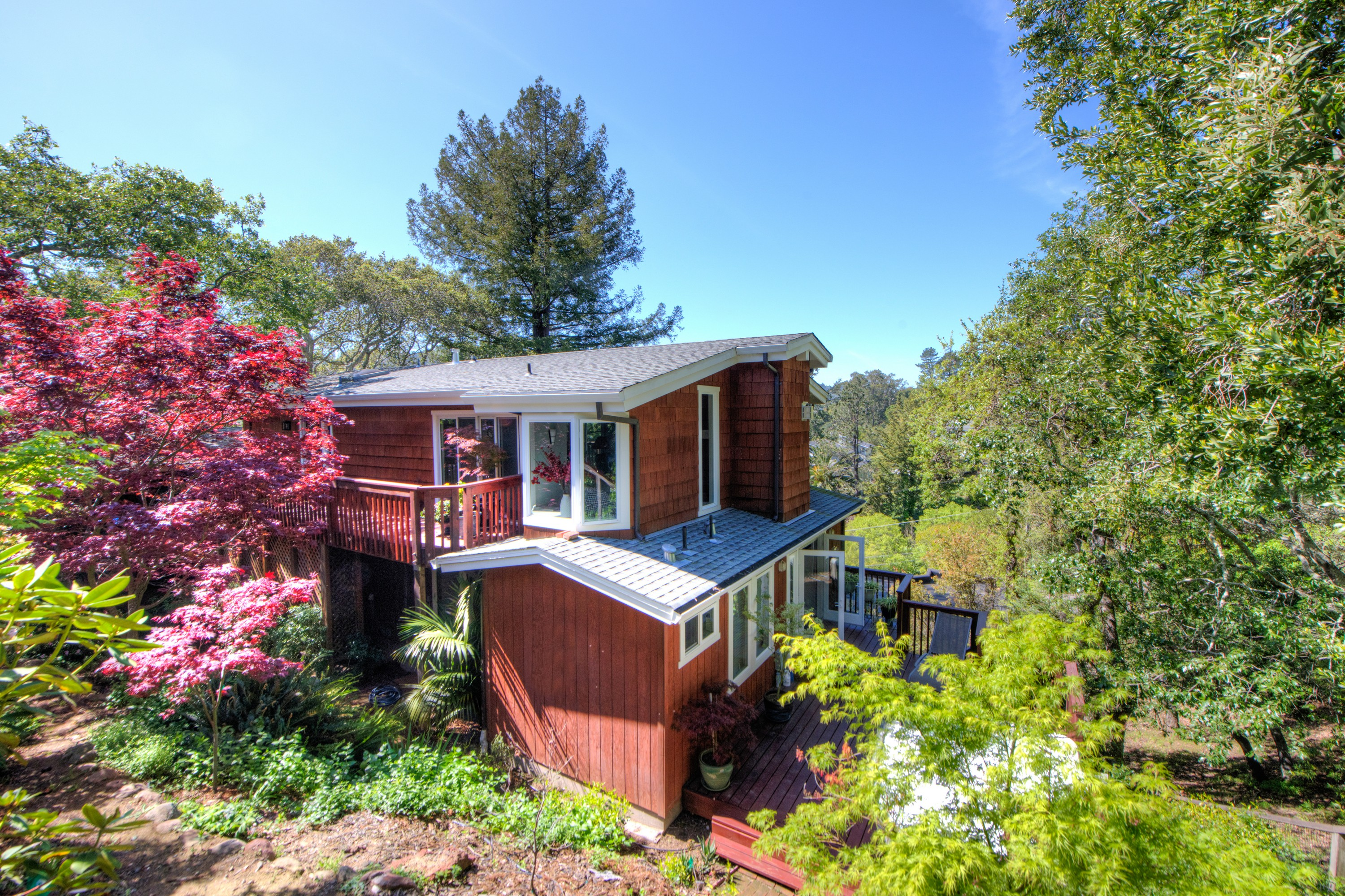 獨棟家庭住宅 為 出售 在 Contemporary Living with Mt. Tam Vistas 225 Foster Avenue Kentfield, 加利福尼亞州, 94904 美國