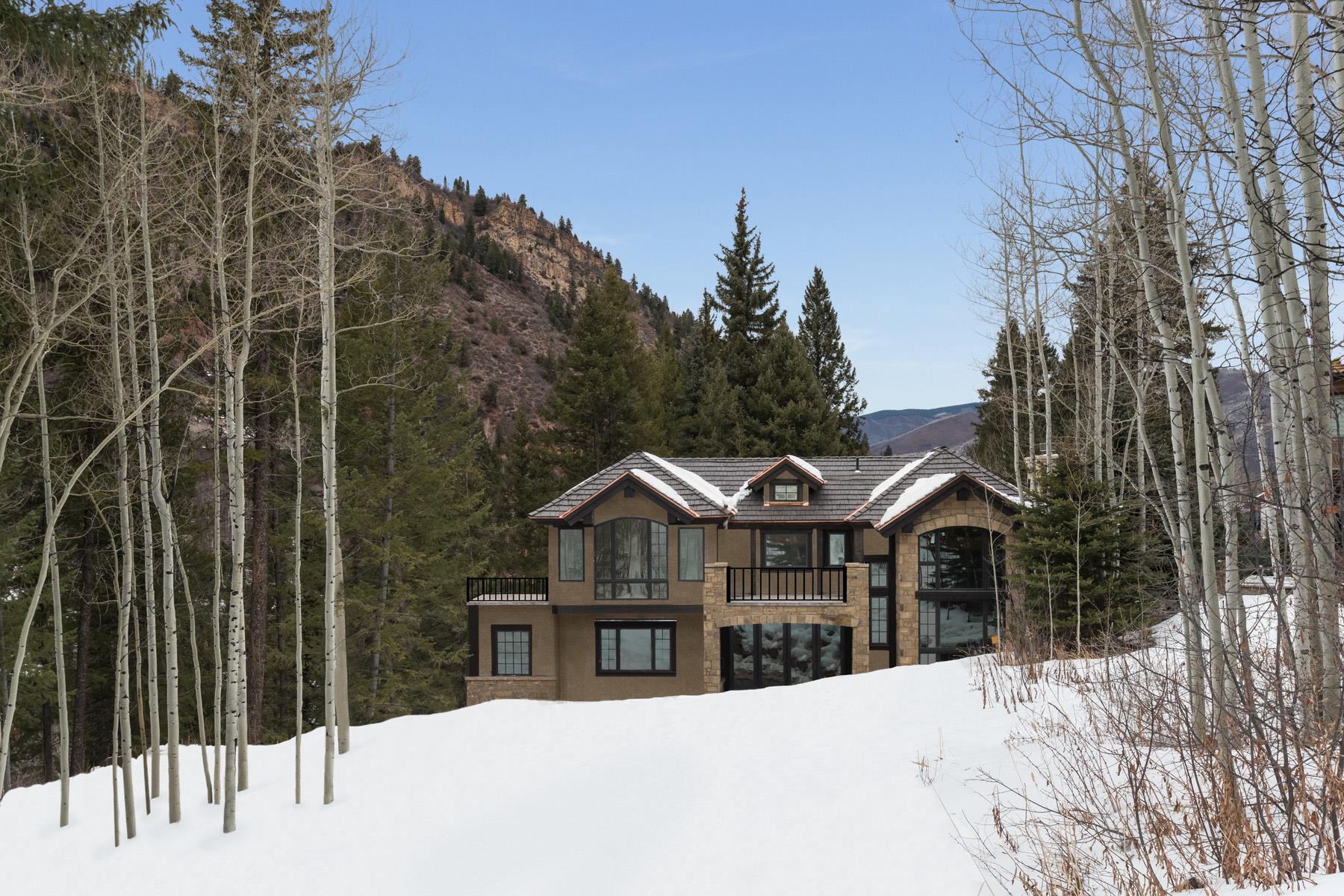 Частный односемейный дом для того Продажа на Brand New Mountain Modern Ski Home 235 Exhibition Lane Aspen, Колорадо 81611 Соединенные Штаты