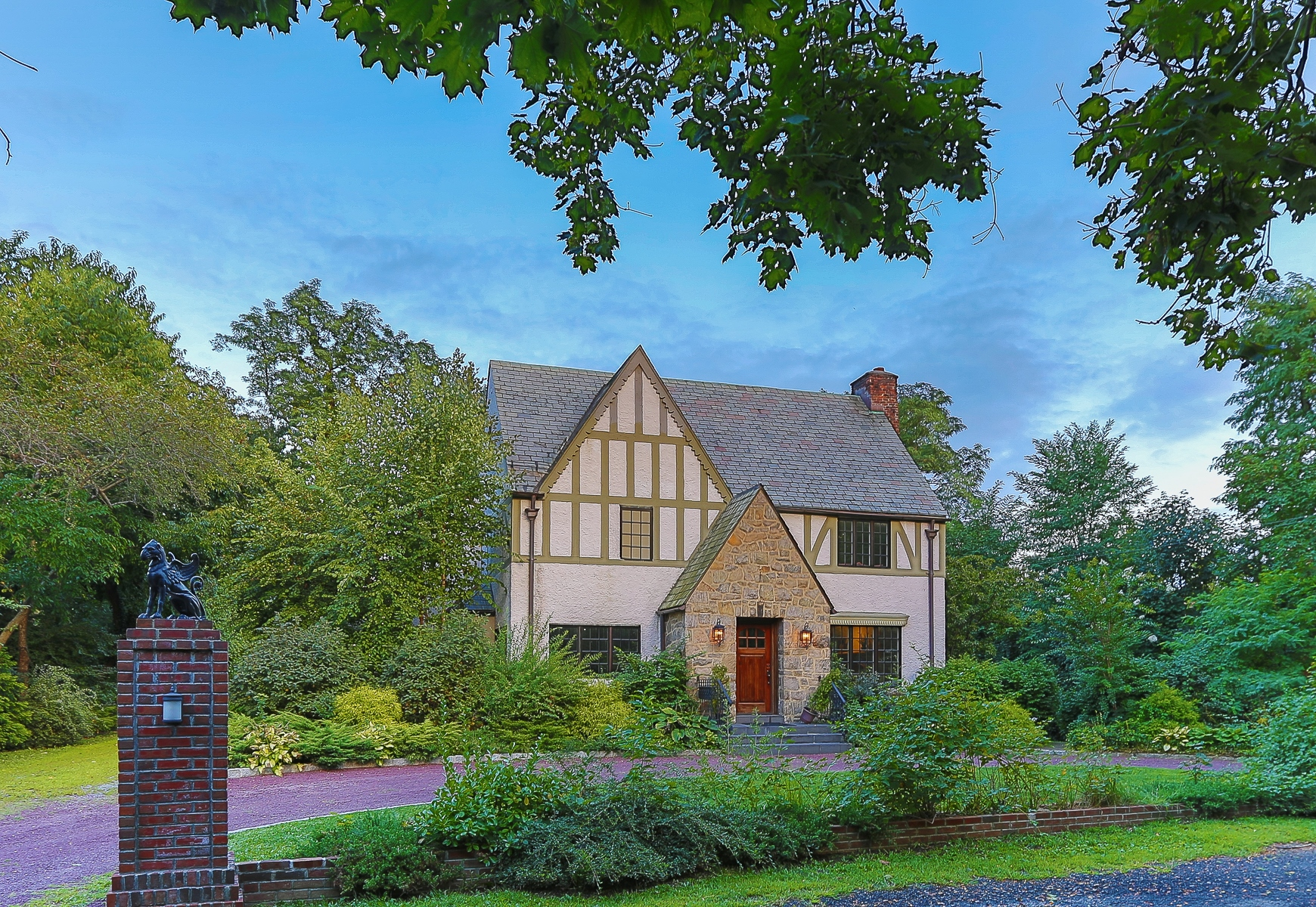 sales property at Restored 5 BR Stone & Stucco Tudor on 12 Acre