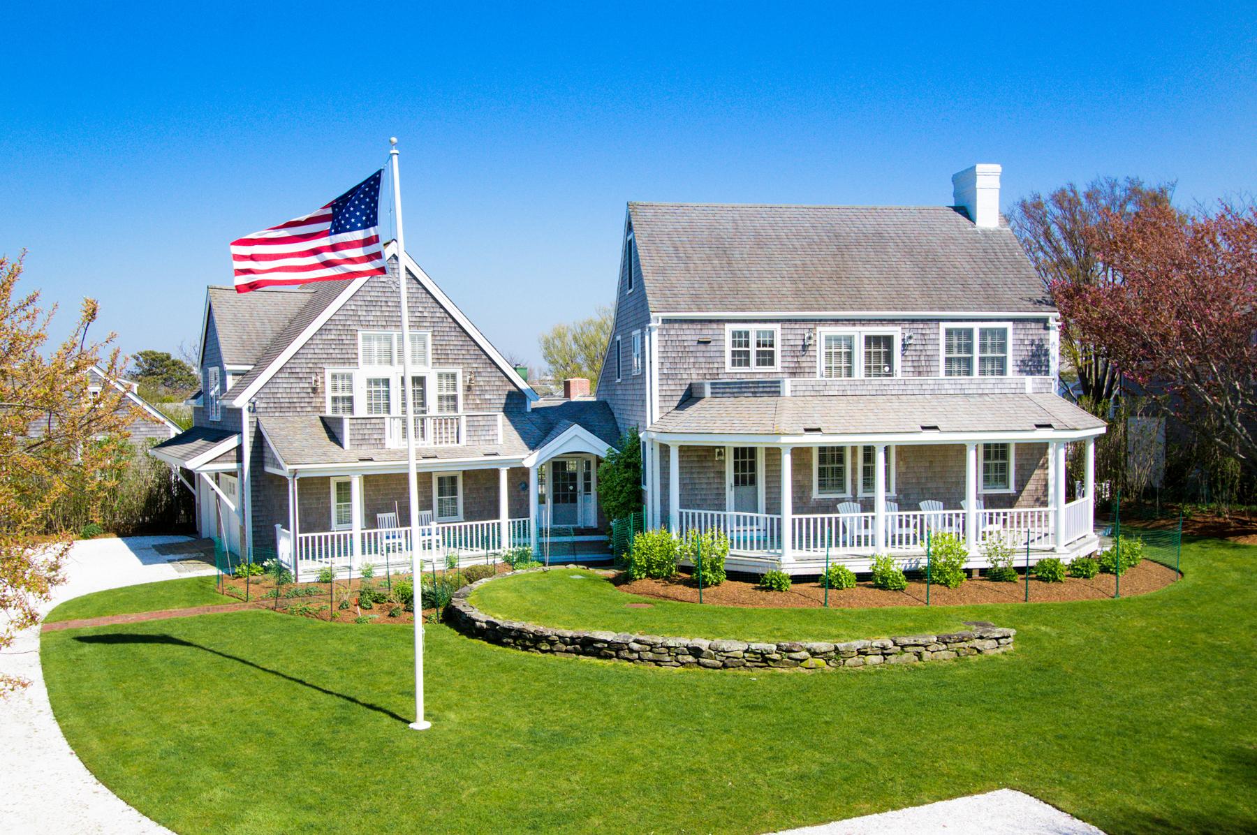獨棟家庭住宅 為 出售 在 Exceptional Cliff Location 7 Hamblin Road Nantucket, 麻塞諸塞州, 02554 美國
