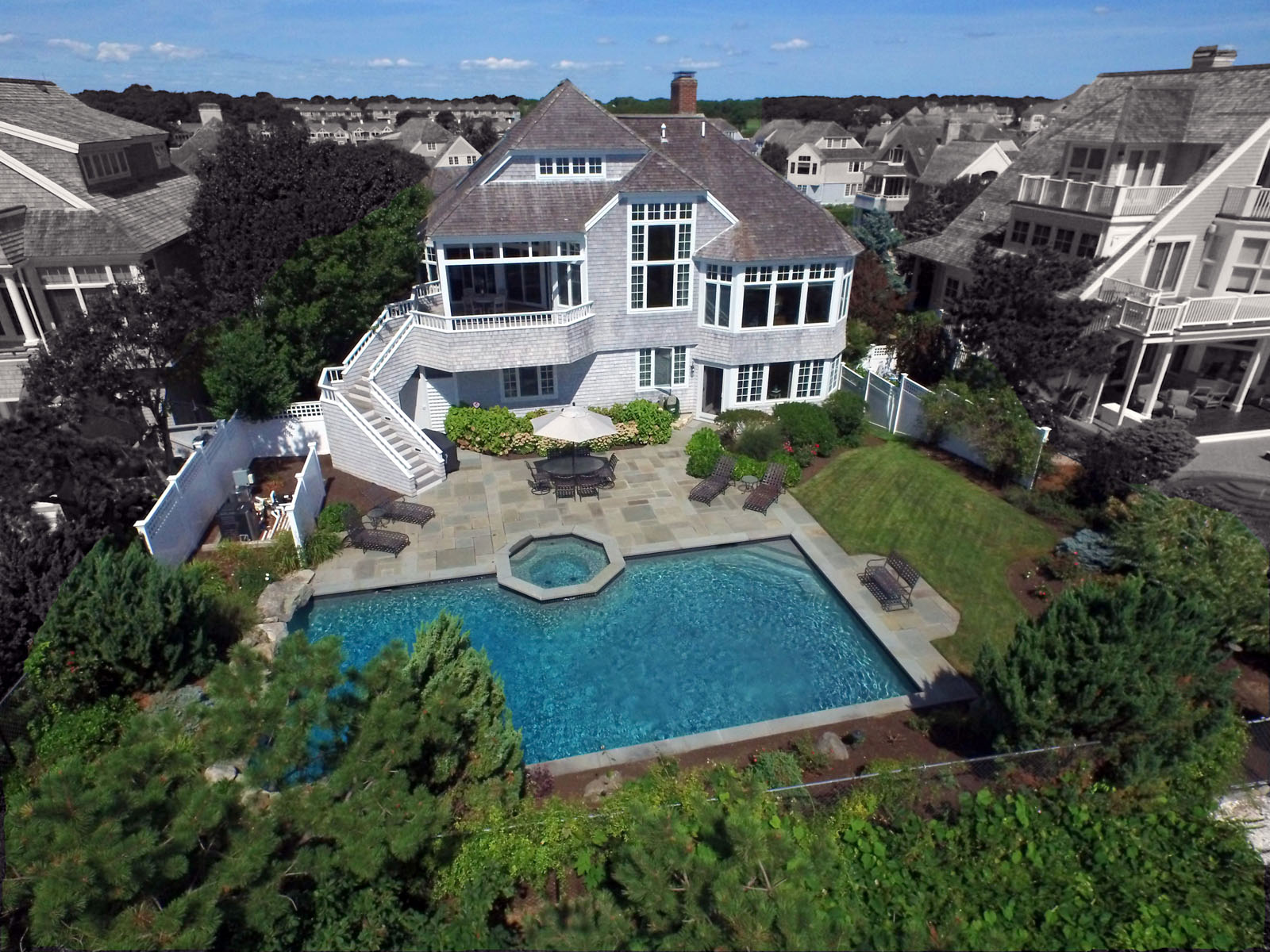 "Single Family Home for Sale at OCEANFRONT ""SEASIDE"" NEW SEABURY 128 Shore Drive West New Seabury, 02649 United States"