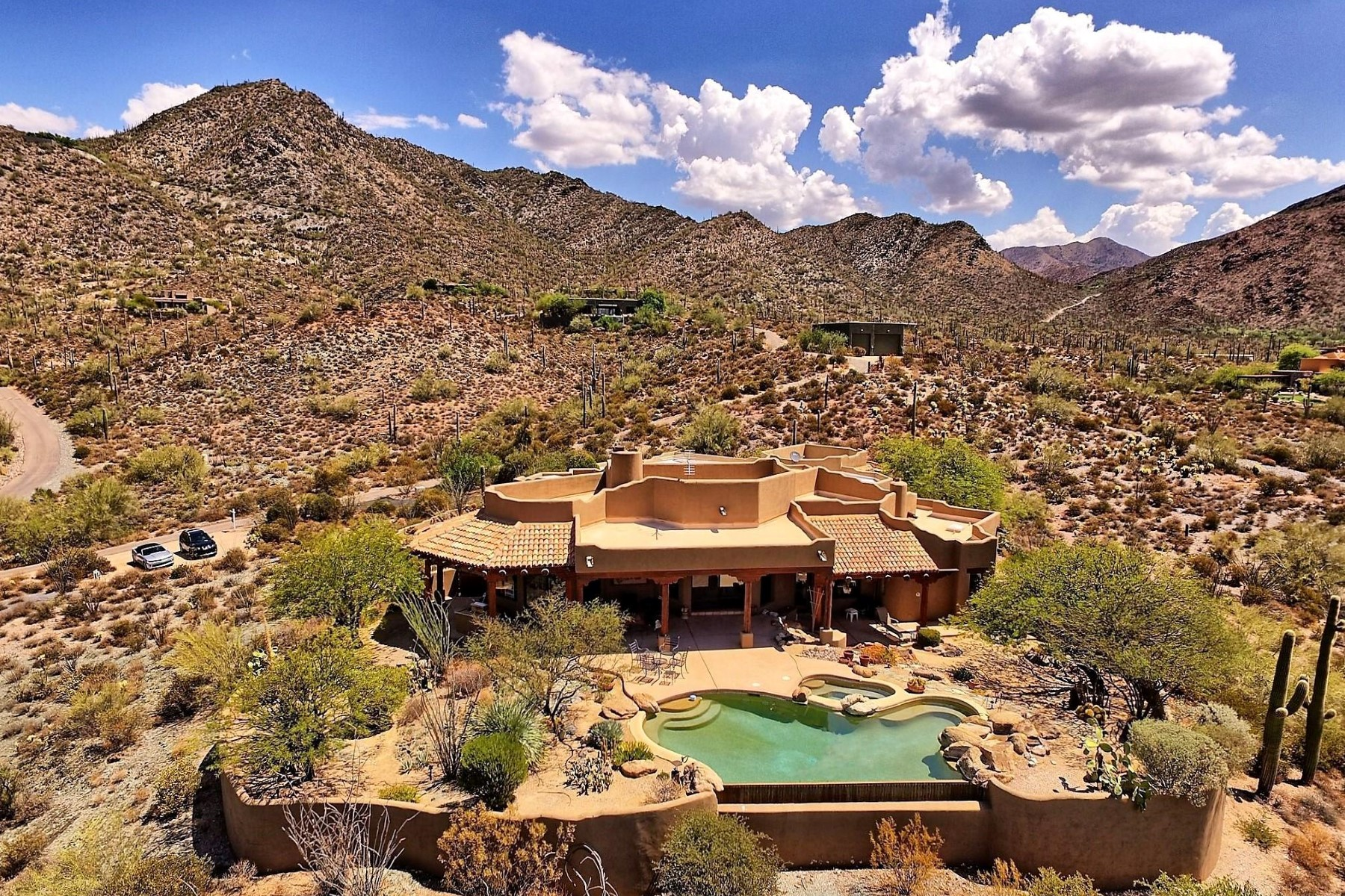 Single Family Home for Sale at Soft Southwestern Santa Fe home with amazing views 43311 N Cottonwood Canyon Rd Cave Creek, Arizona, 85331 United States