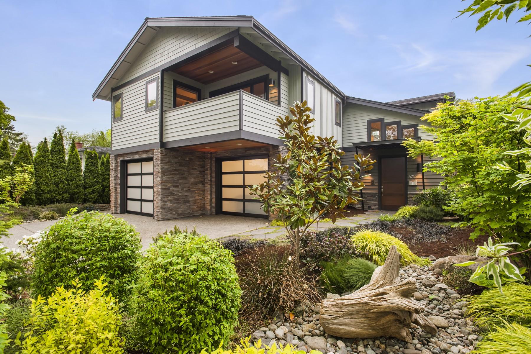 Single Family Home for Sale at Modern Houghton Home 6716 103rd Ave NE Kirkland, Washington, 98033 United States