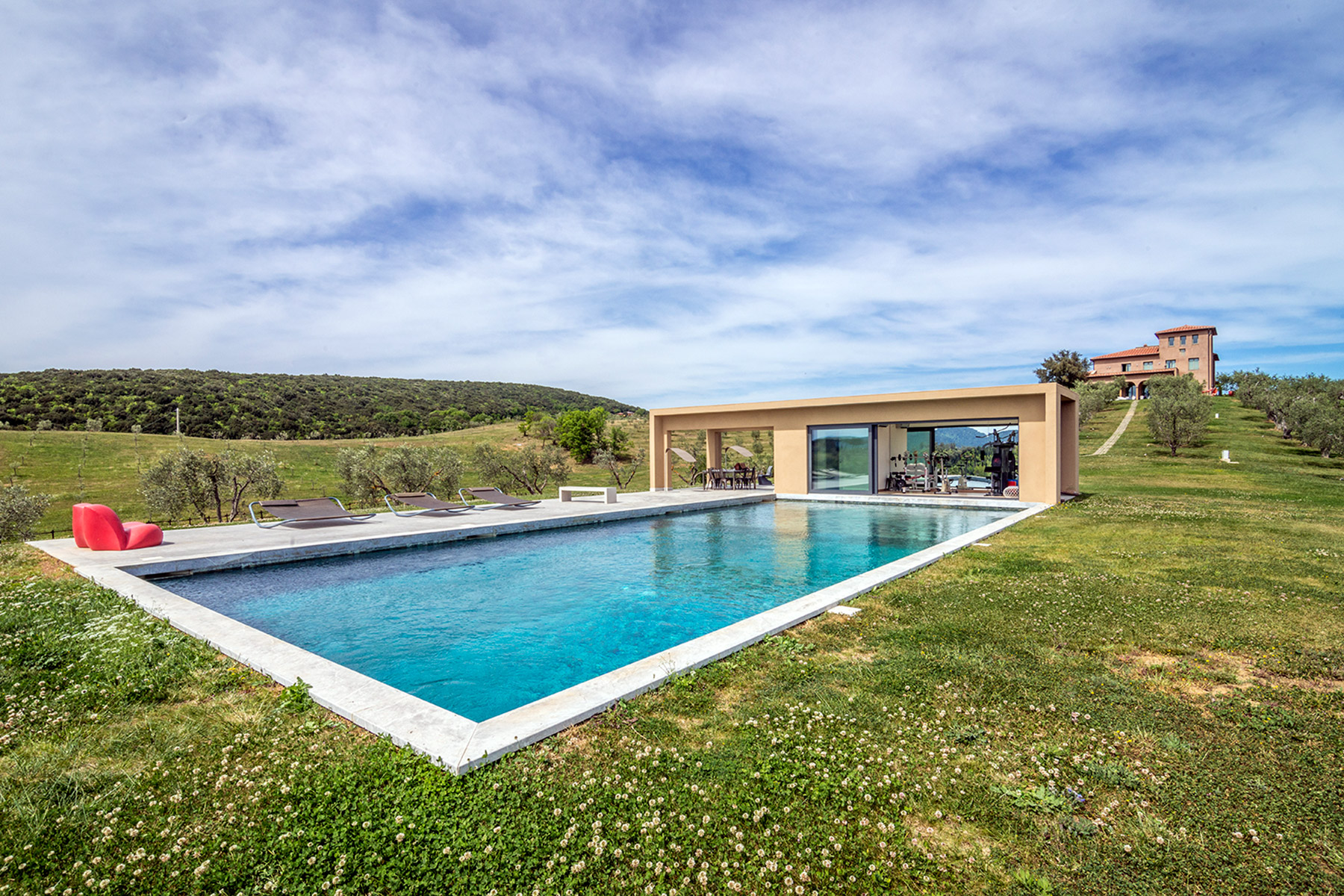 Single Family Home for Sale at Unique luxury contemporary villa in an olive grove estate Massa Marittima, Grosseto Italy