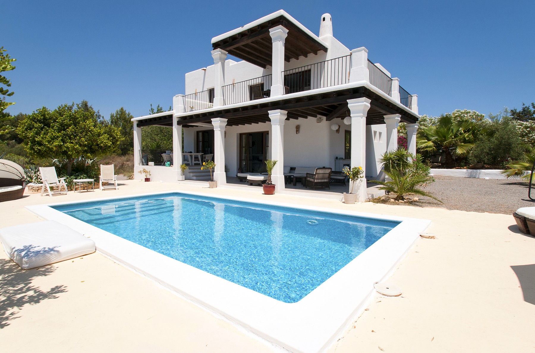 New Build South Orientated Rustic Villa In Ibiza
