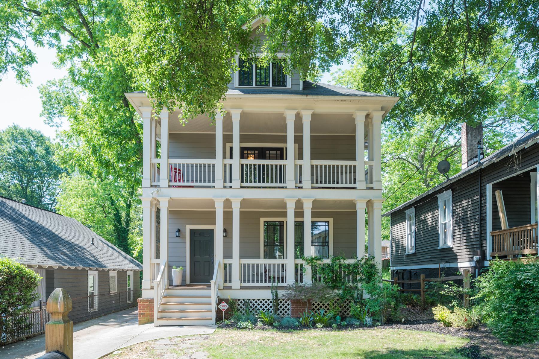 独户住宅 为 销售 在 Charleston-Style In Edgewood 1219 Mortimer Place SE Edgewood, 亚特兰大, 乔治亚州, 30317 美国