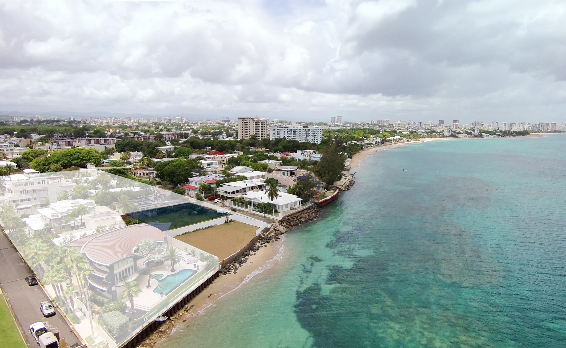 Additional photo for property listing at Double Waterfront in Ocean Park's Punta Las Marias District 1&3 Calle Caoba San Juan, Puerto Rico 00913 Puerto Rico