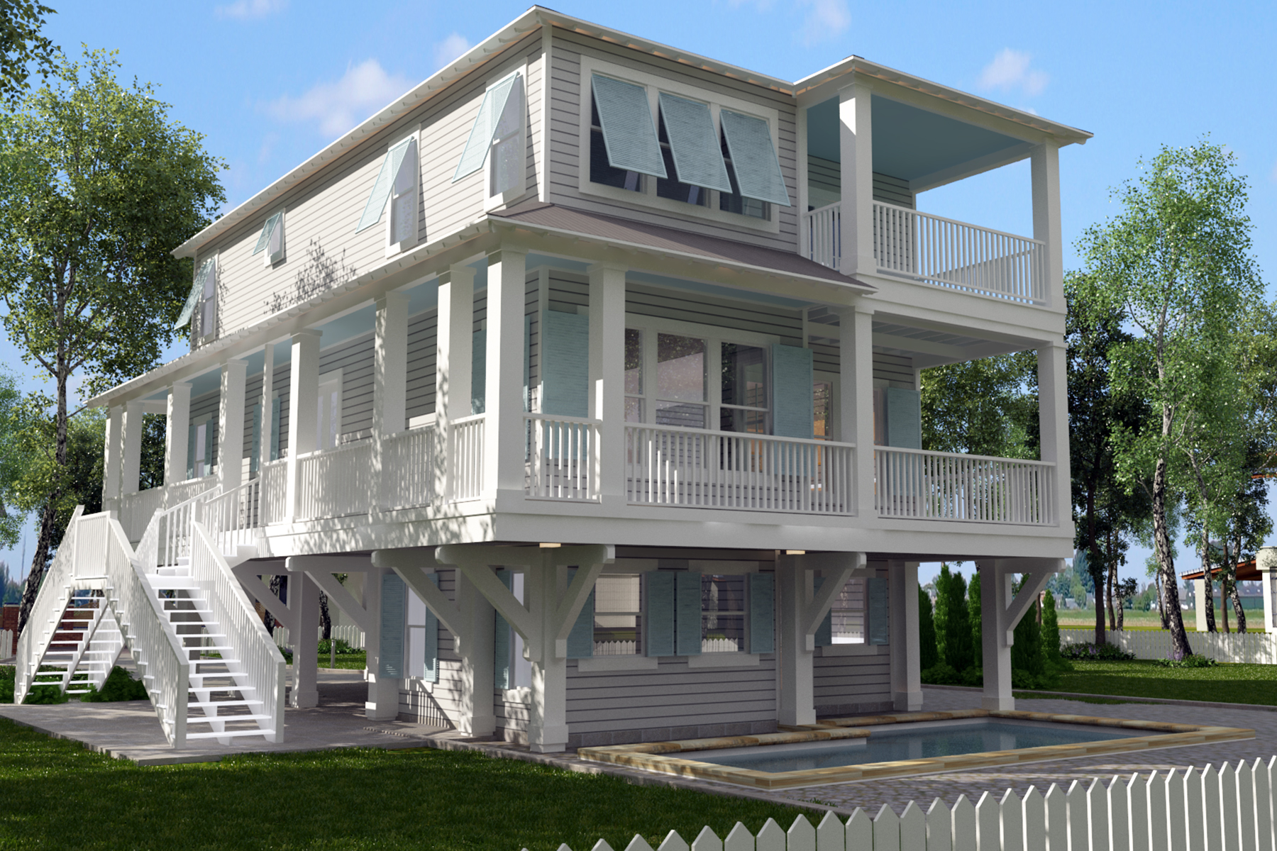 Single Family Home for Sale at BEAUTIFUL BRAND NEW HOME WITH TOP AMENITIES 55 West Grove Avenue Santa Rosa Beach, Florida, 32459 United States