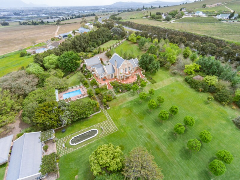Property For Sale at Exceptional Villa perched high above Stellenbosch