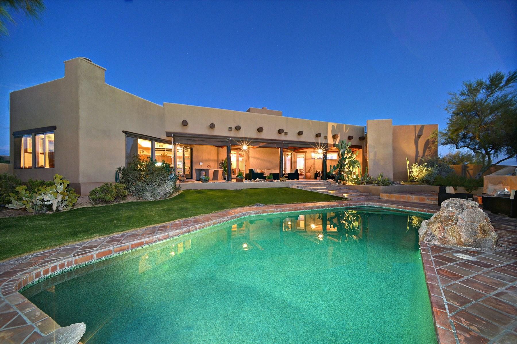 独户住宅 为 销售 在 Large Southwest Home Offers Exceptional Living Spaces In Desert Mountain 9950 E Sundance Trail Scottsdale, 亚利桑那州 85262 美国