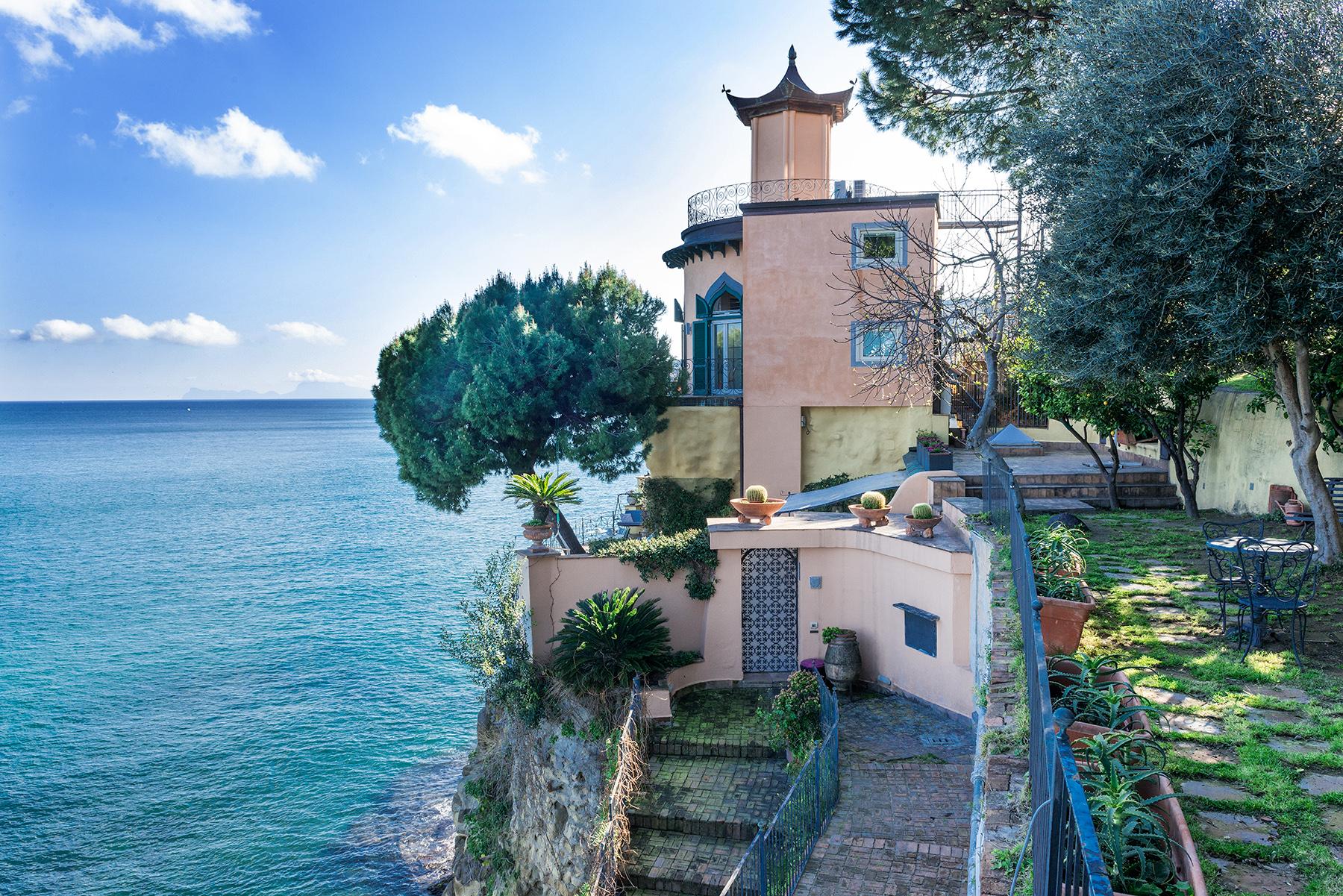 Single Family Home for Sale at Historic home pied dans l'eau in Posillipo Via Posillipo Napoli, 80123 Italy