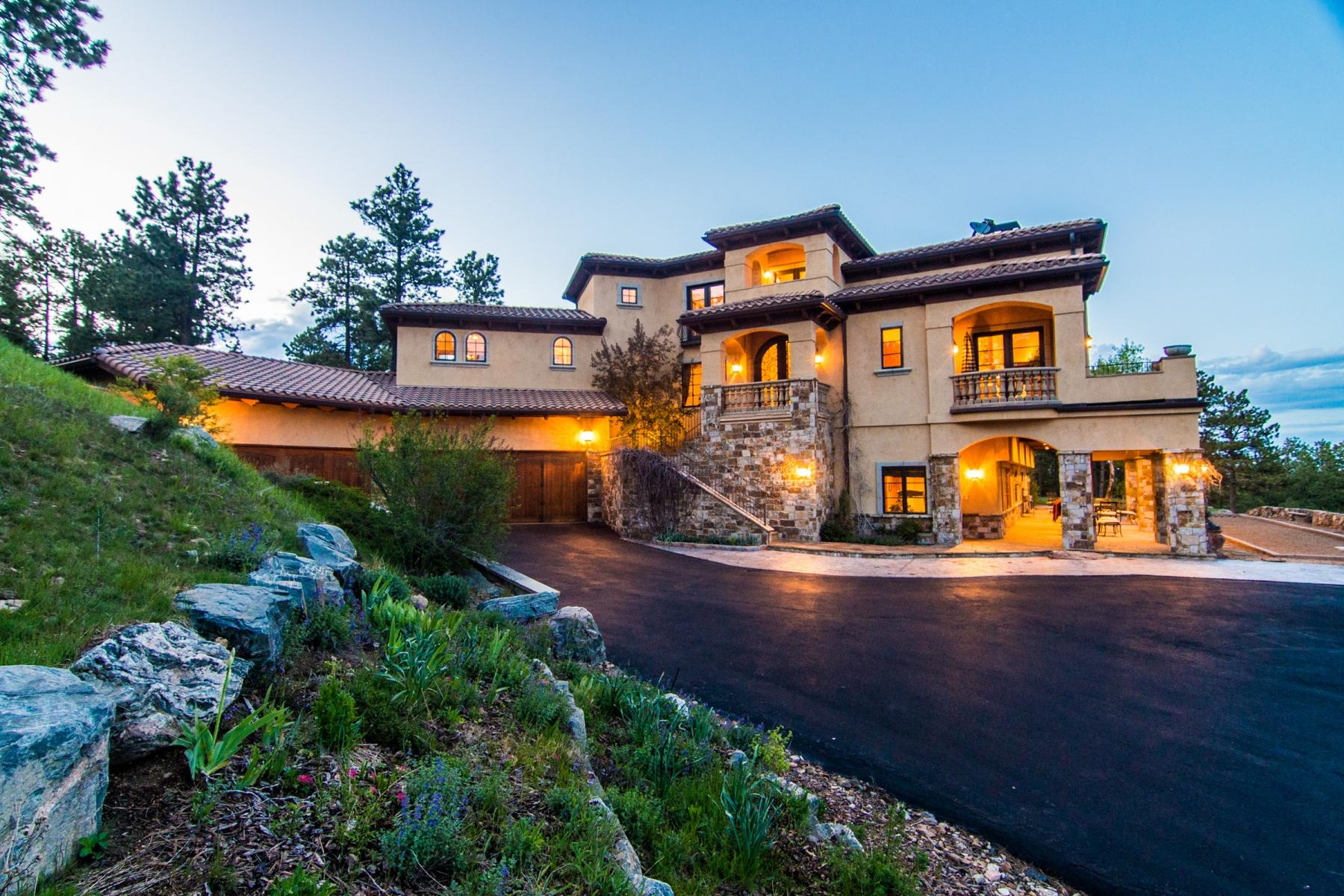 Maison unifamiliale pour l Vente à Tuscan Farm House 33137 Alta Vista Drive Evergreen, Colorado 80439 États-Unis