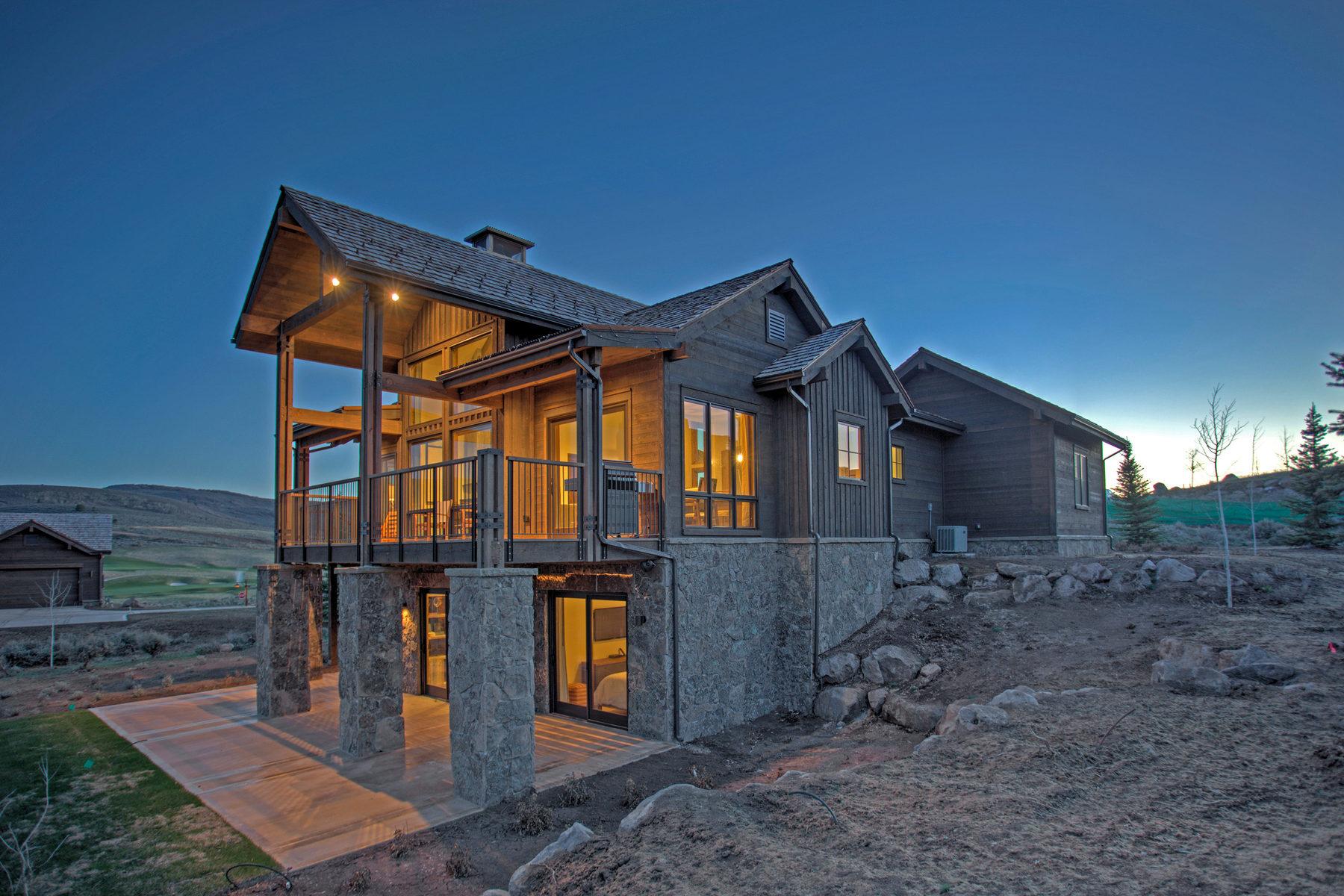 Maison unifamiliale pour l Vente à Juniper Cabin with Spectacular Views 6737 E Riparian Way Lot #138 Heber City, Utah 84032 États-Unis