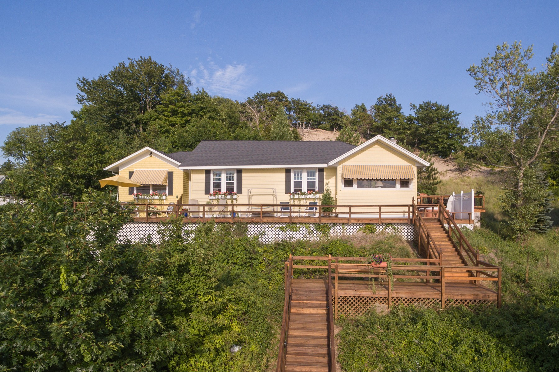 Single Family Home for Sale at Unencumbered Views Of Lake Michigan 2448 Blue Bell Court Macatawa, Michigan, 49434 United States