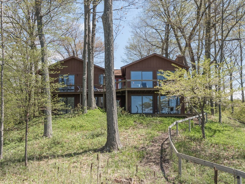Single Family Home for Sale at Lake Michigan Waterfront Near Holland 2490 Sunset Bluff Holland, Michigan 49424 United States