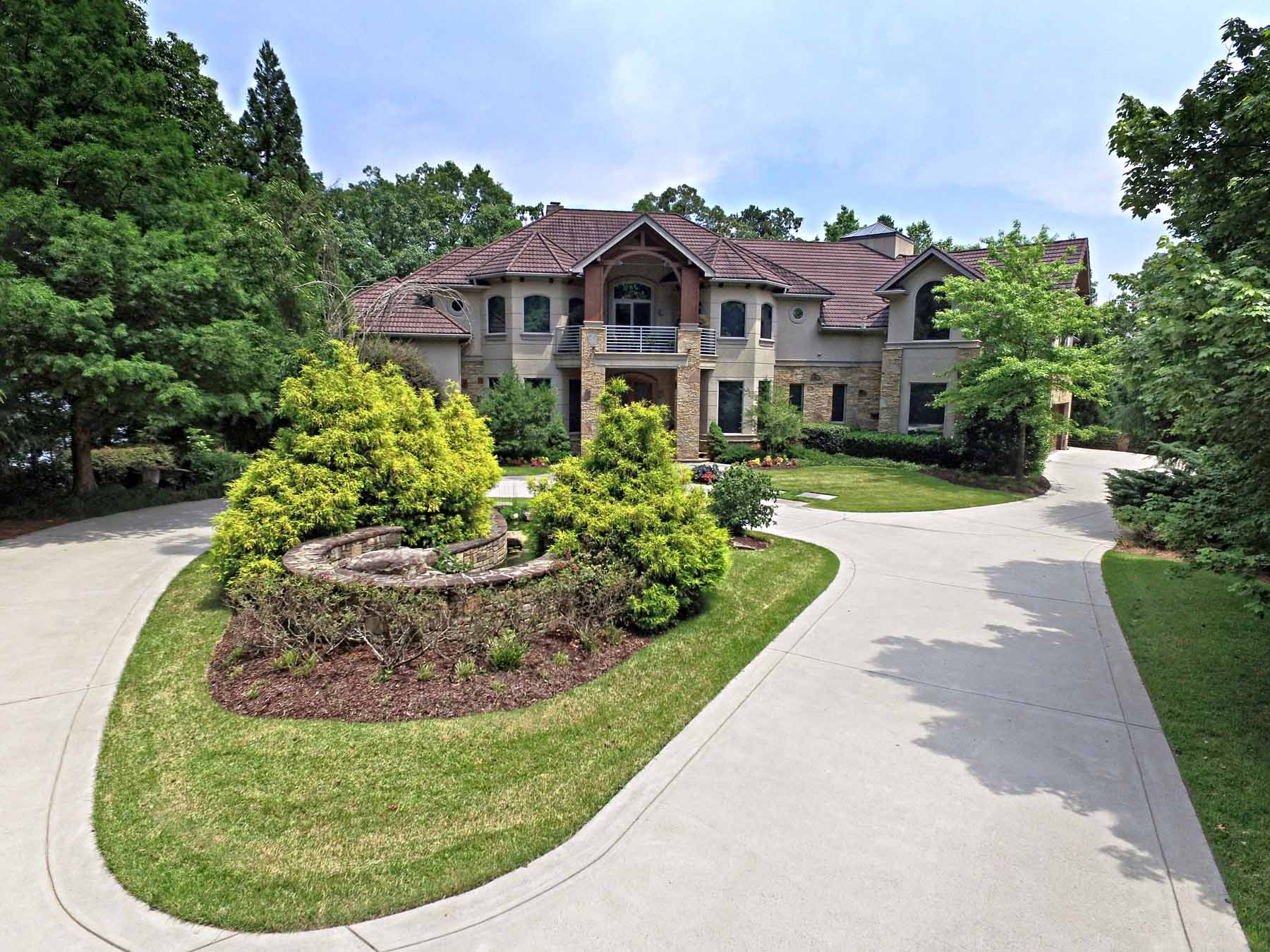 Single Family Home for Active at Magnificent Lake Lanier Gated Estate 7415 Breeze Bay Road Cumming, Georgia 30041 United States