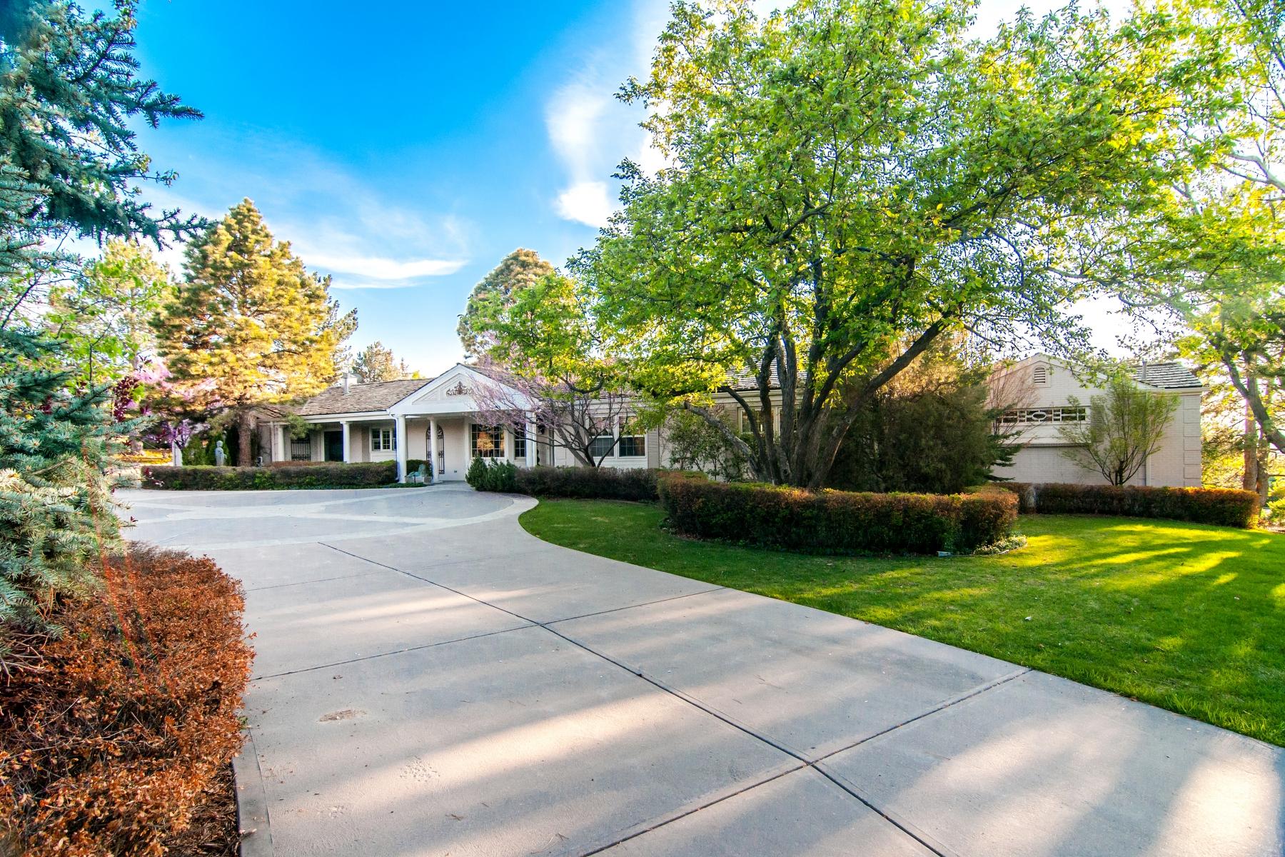 Tek Ailelik Ev için Satış at Spectacular Views from this Santa Barbara-style Ranch 4701 South Dasa Drive Cherry Hills Village, Colorado 80111 Amerika Birleşik Devletleri