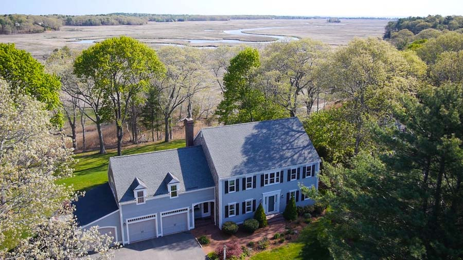 Single Family Home for Sale at Colonial with Sweeping Marsh Views 1 Harmony Hill Road Duxbury, Massachusetts 02332 United States
