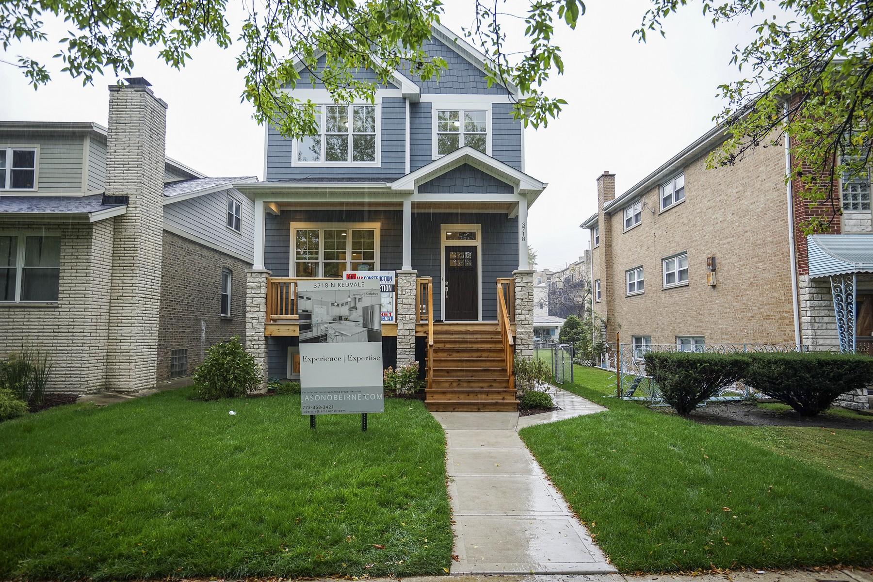 Maison unifamiliale pour l Vente à Pre-Construction Opportunity 3718 N Kedvale Avenue Irving Park, Chicago, Illinois, 60641 États-Unis