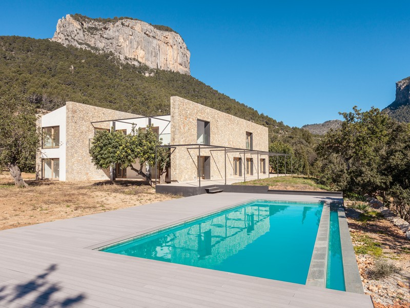 Property For Sale at Villa in Alaró with views to the Twin Mountains