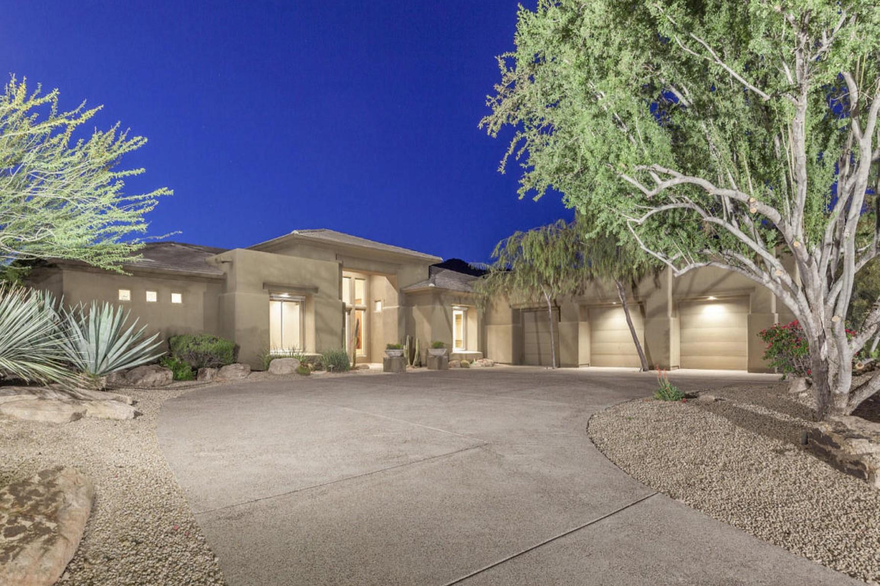 Частный односемейный дом для того Продажа на Gorgeous custom home with great city and mountain views 11888 N 134th Way Scottsdale, Аризона, 85259 Соединенные Штаты