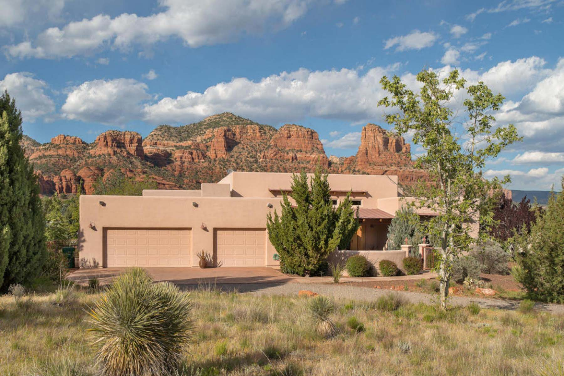 Single Family Home for Sale at Sun Up Ranch beauty with pool. 100 Ravens Rock Rd Sedona, Arizona 86351 United States
