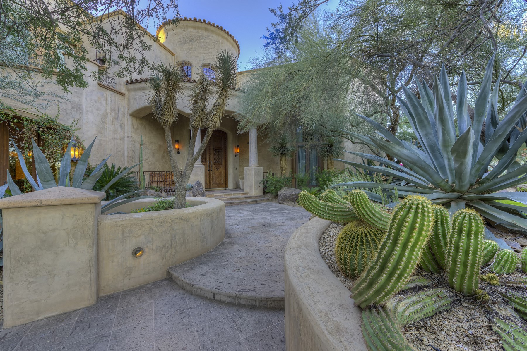 Single Family Home for Sale at Impeccable David Dick Mediterranean Architecture Design 12234 S Honah Lee Ct Phoenix, Arizona, 85044 United States