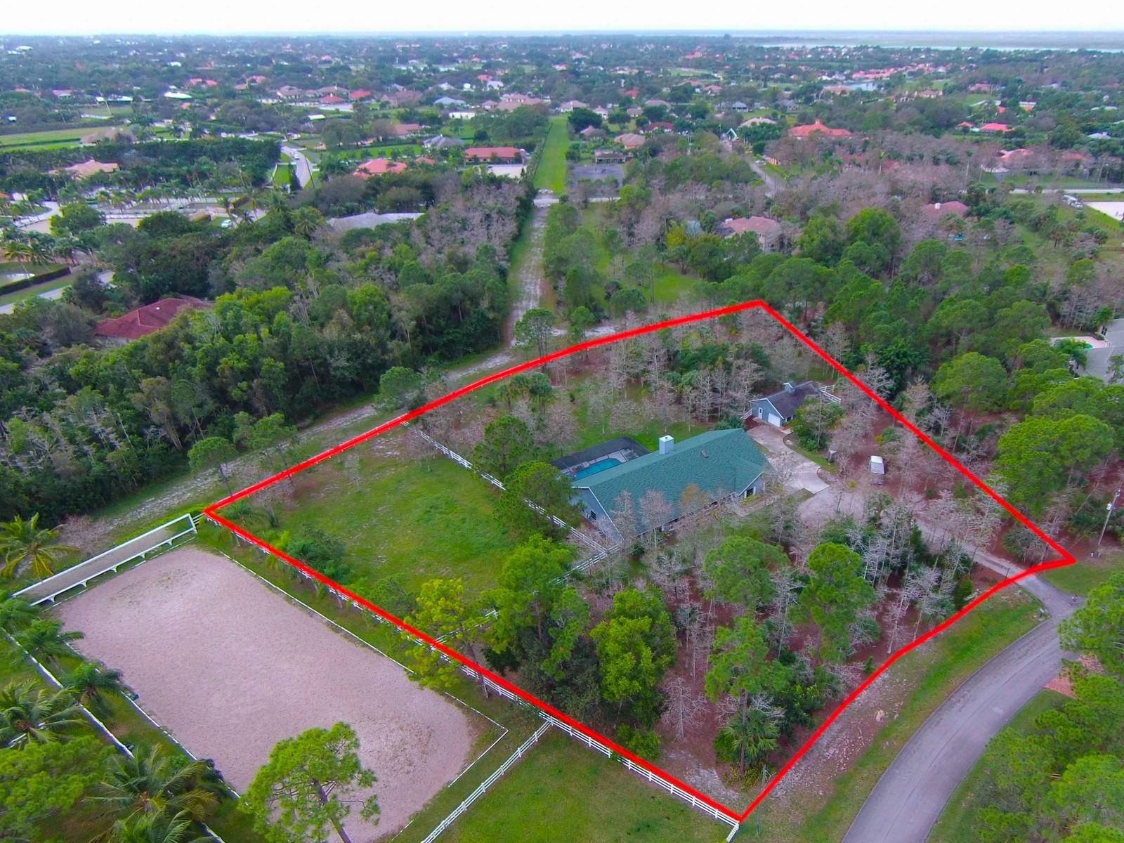 Maison unifamiliale pour l Vente à 1401 Pelham 1401 Pelham Road Wellington, Florida, 33414 États-Unis
