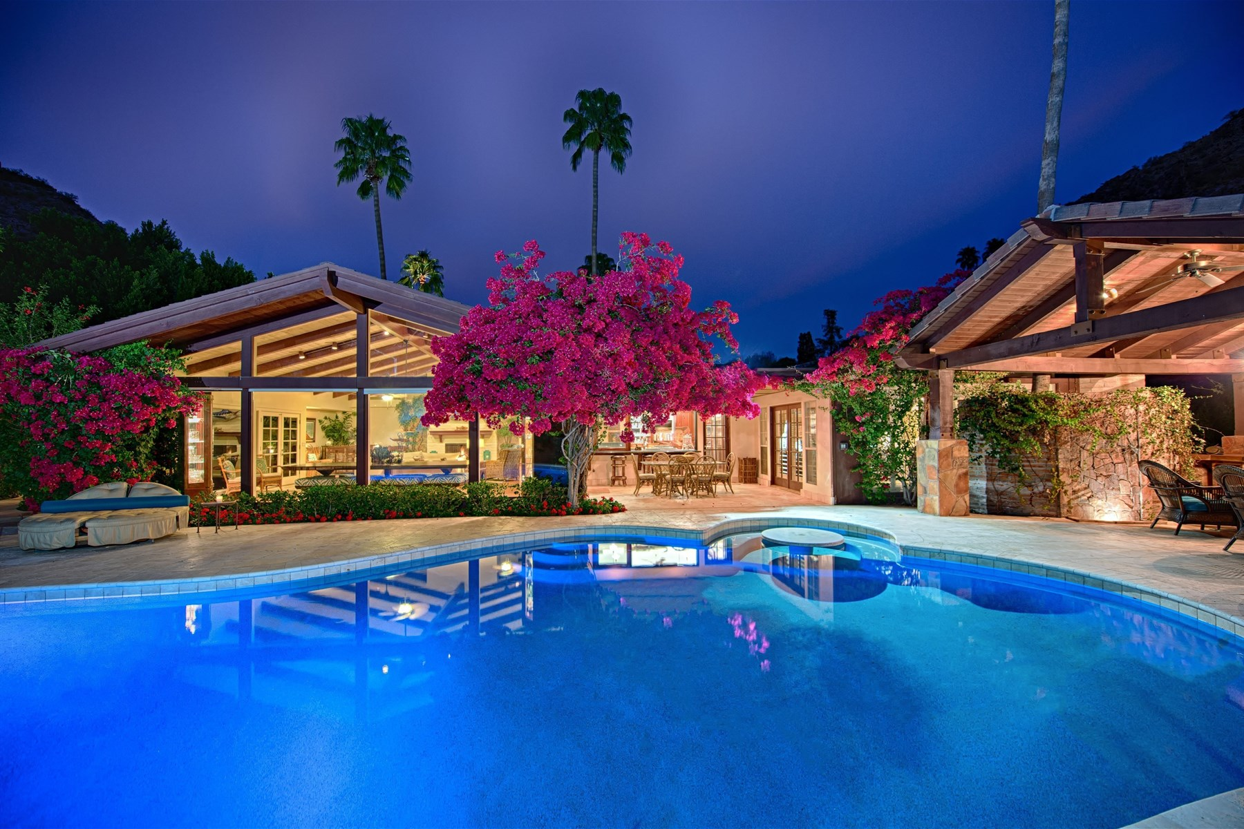 sales property at Hidden Tropical Paradise nestled in a Phoenix Mountain Preserve canyon