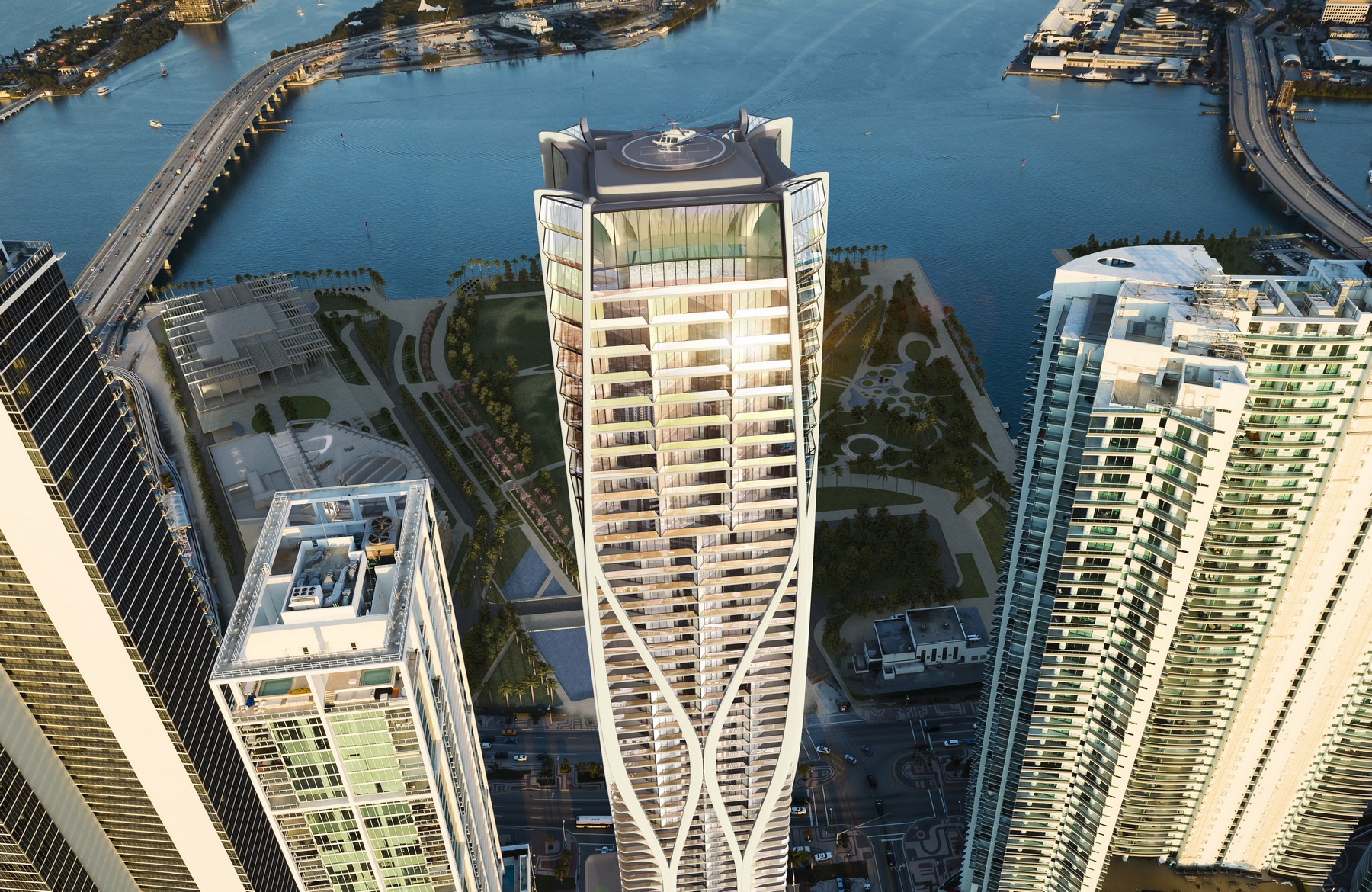 Appartement pour l Vente à One Thousand Museum 1000 Biscayne Blvd # 1801 Miami, Florida, 33132 États-Unis