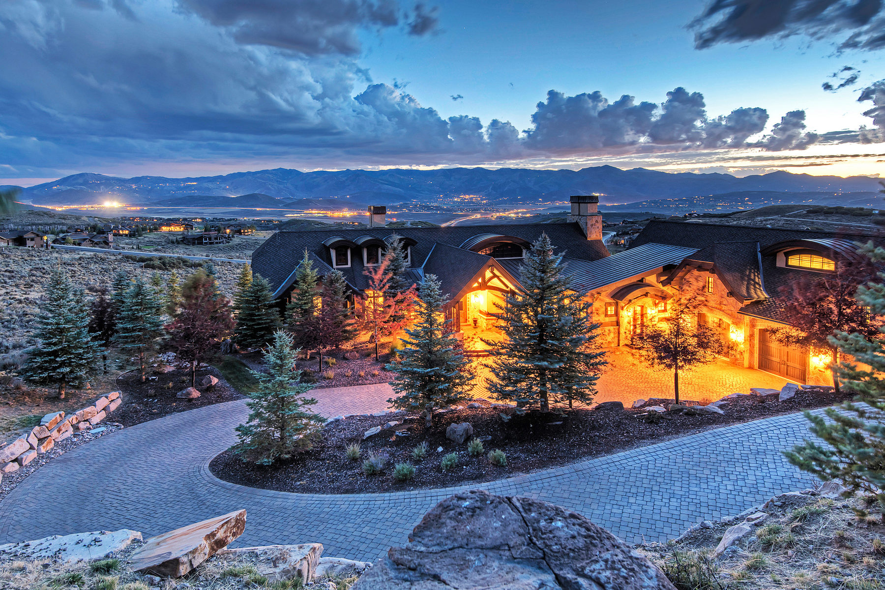 Property For Sale at A Timeless and Elegant Home with Forever Ski Hill Views