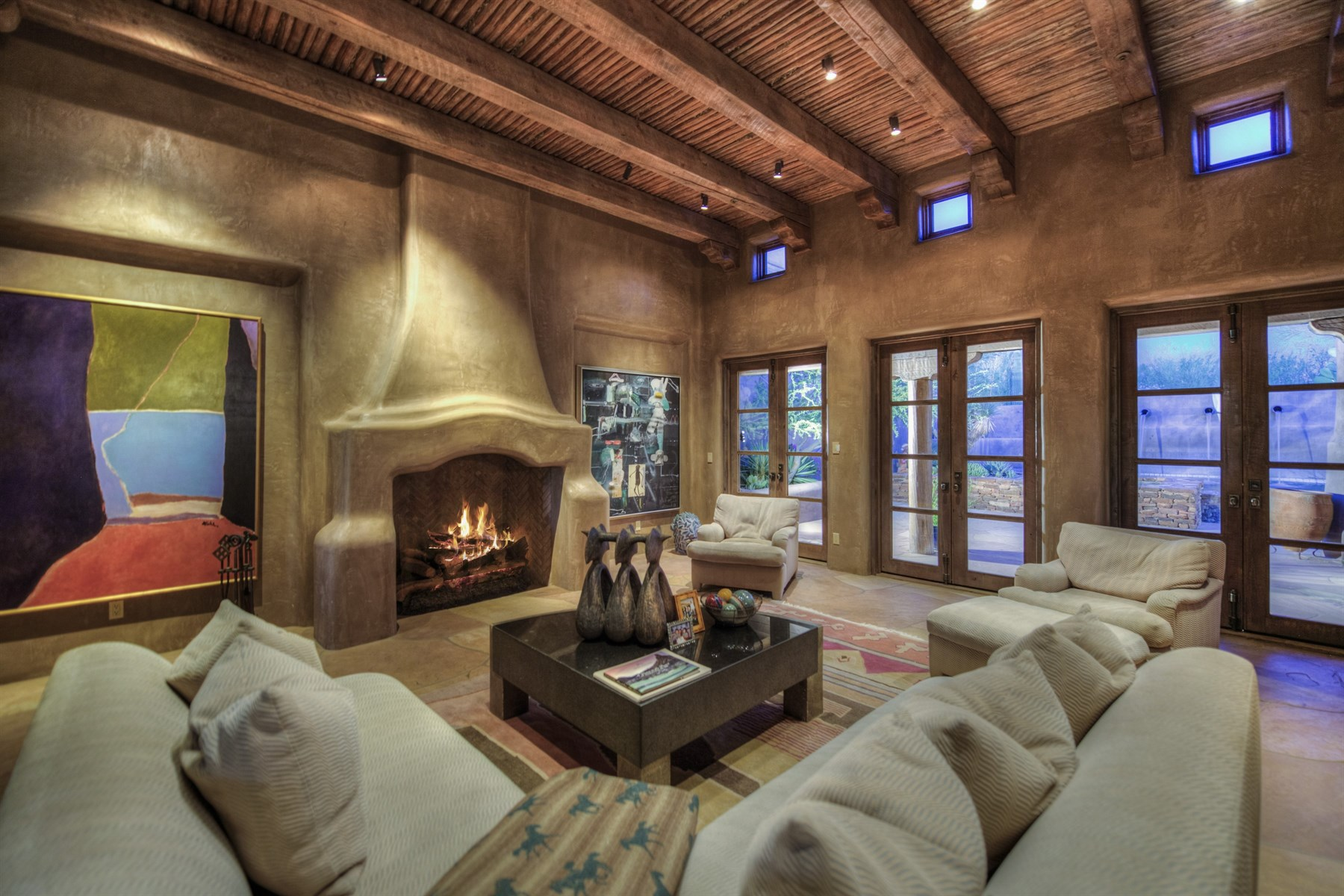 Property For Sale at Elegant Pueblo Revival home, masterfully designed by architect German Robledo