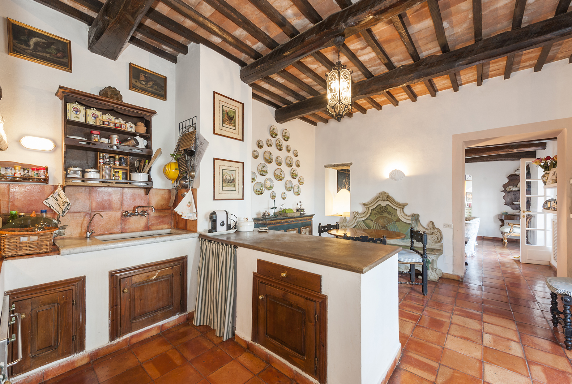 Additional photo for property listing at Wonderful stone villa in Monte Argentario Porto Ercole, Grosseto Italia