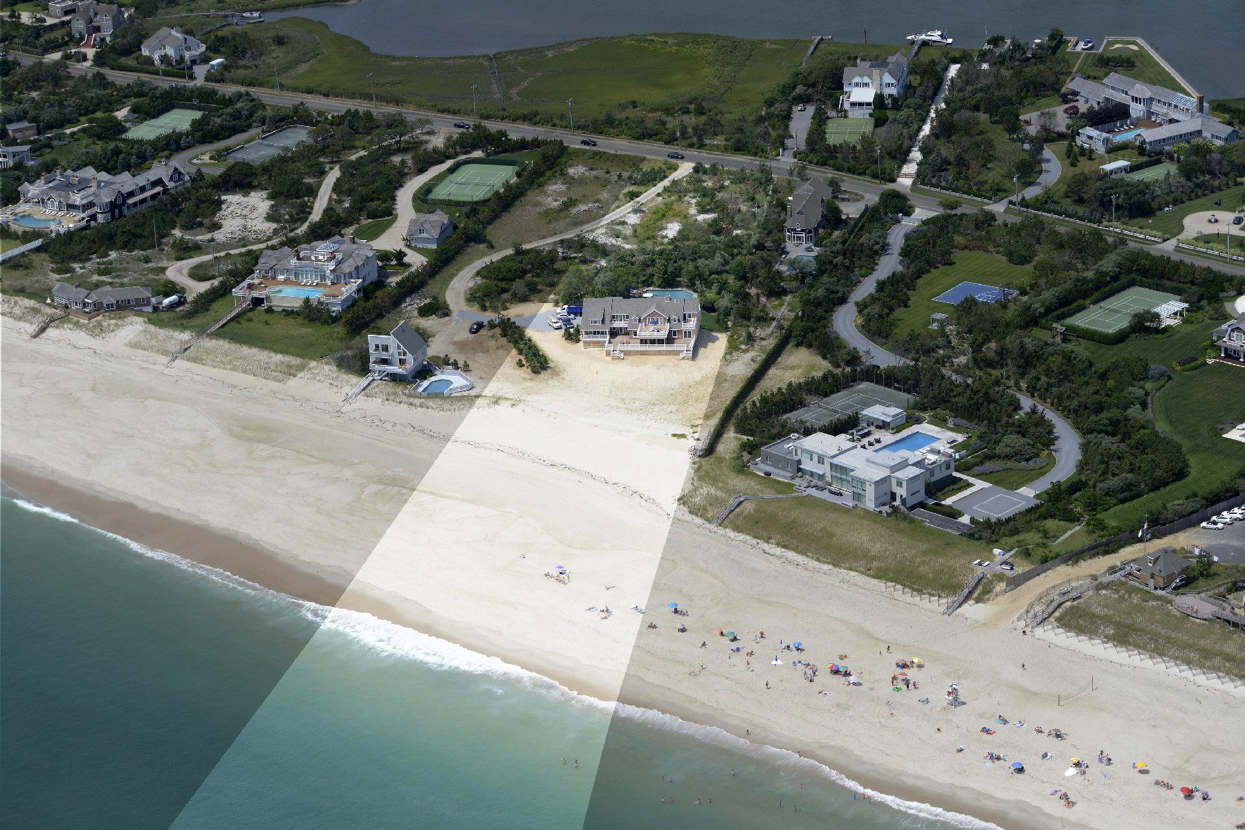 Single Family Home for Sale at Spectacular Quogue Oceanfront Dune Road Quogue, New York 11959 United States