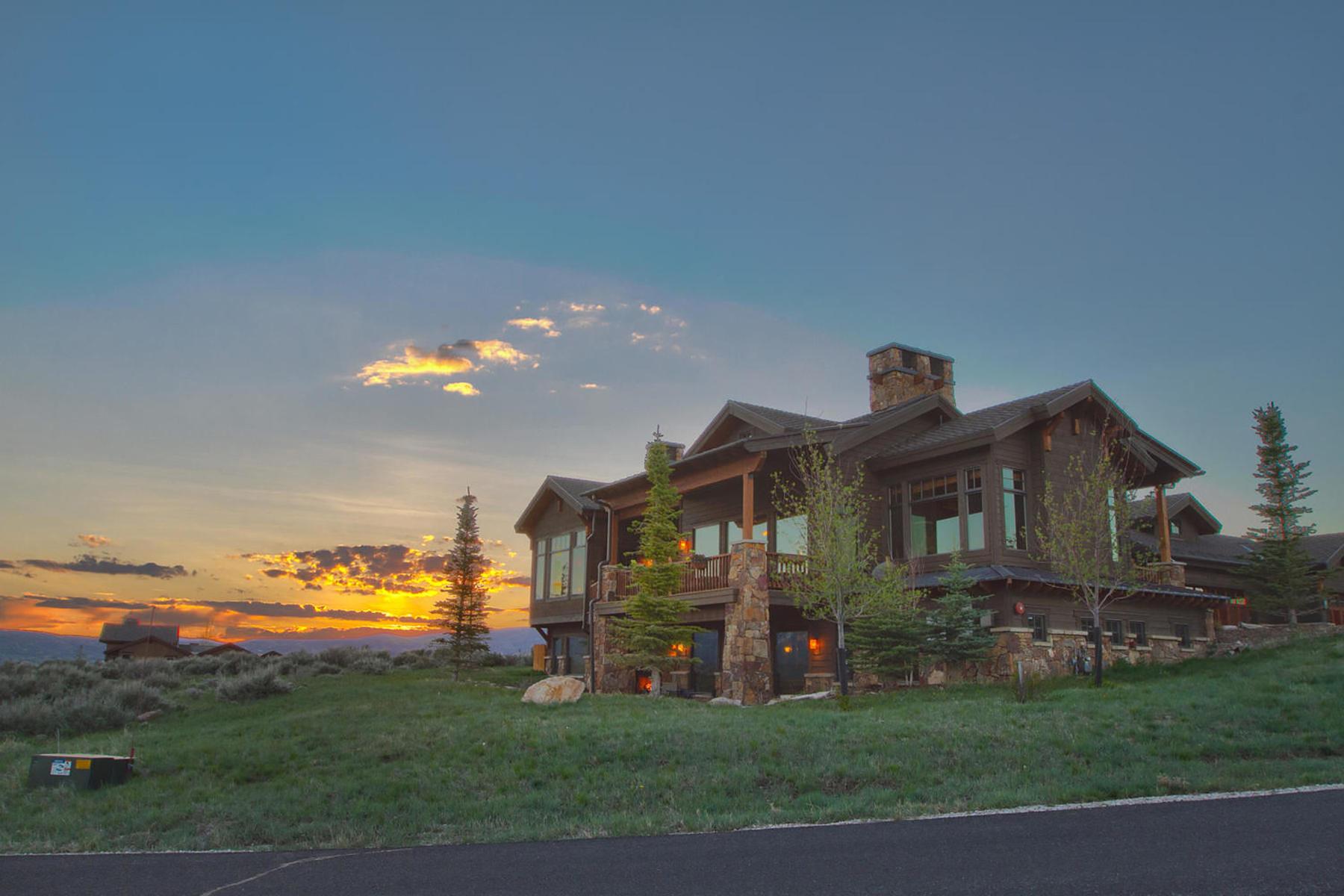 단독 가정 주택 용 매매 에 Promontory's Luxury Home with Commanding Park City Views 2507 E Westview Trl Park City, 유타, 84098 미국