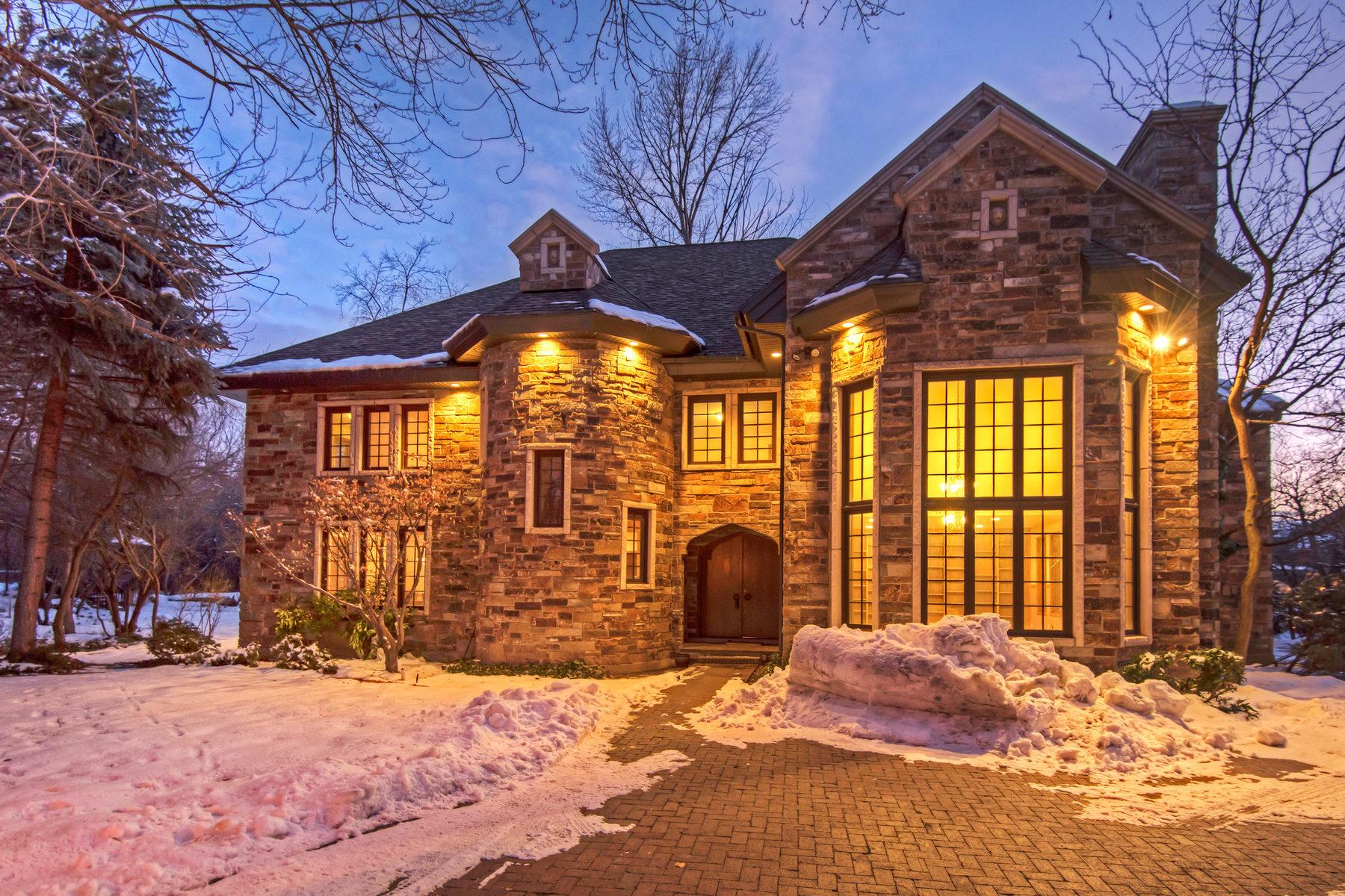 단독 가정 주택 용 매매 에 Lovely Streamside Estate 2720 Shady Brook Ln Holladay, 유타 84121 미국