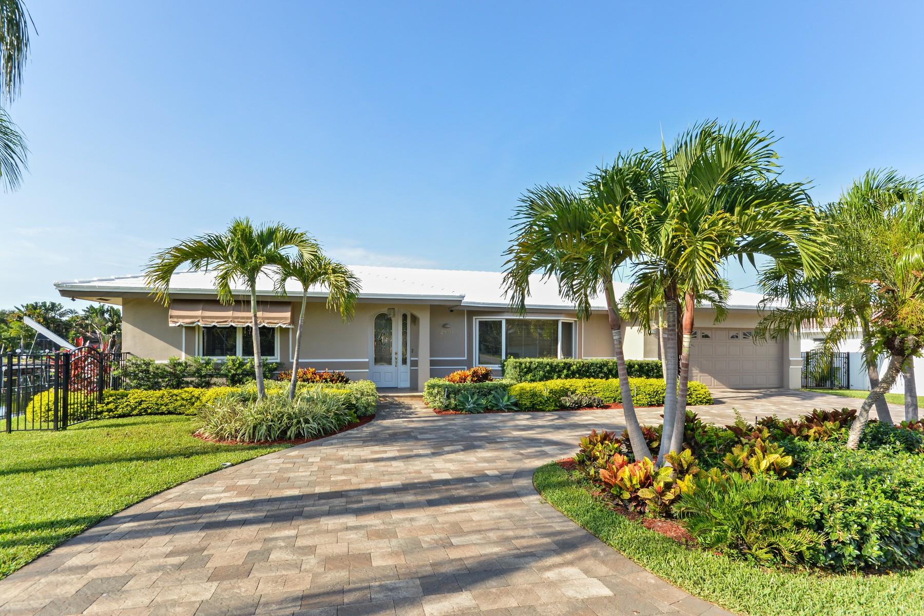 獨棟家庭住宅 為 出售 在 2840 NE 59th St. Fort Lauderdale, 佛羅里達州 33308 美國