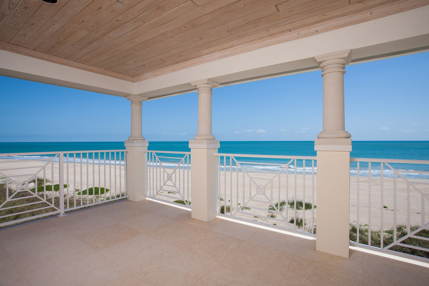 Single Family Home for Sale at Extraordinary Avalon Beach Oceanfront Home with Elevator 6408 Ocean Estates Court Fort Pierce, Florida 34949 United States