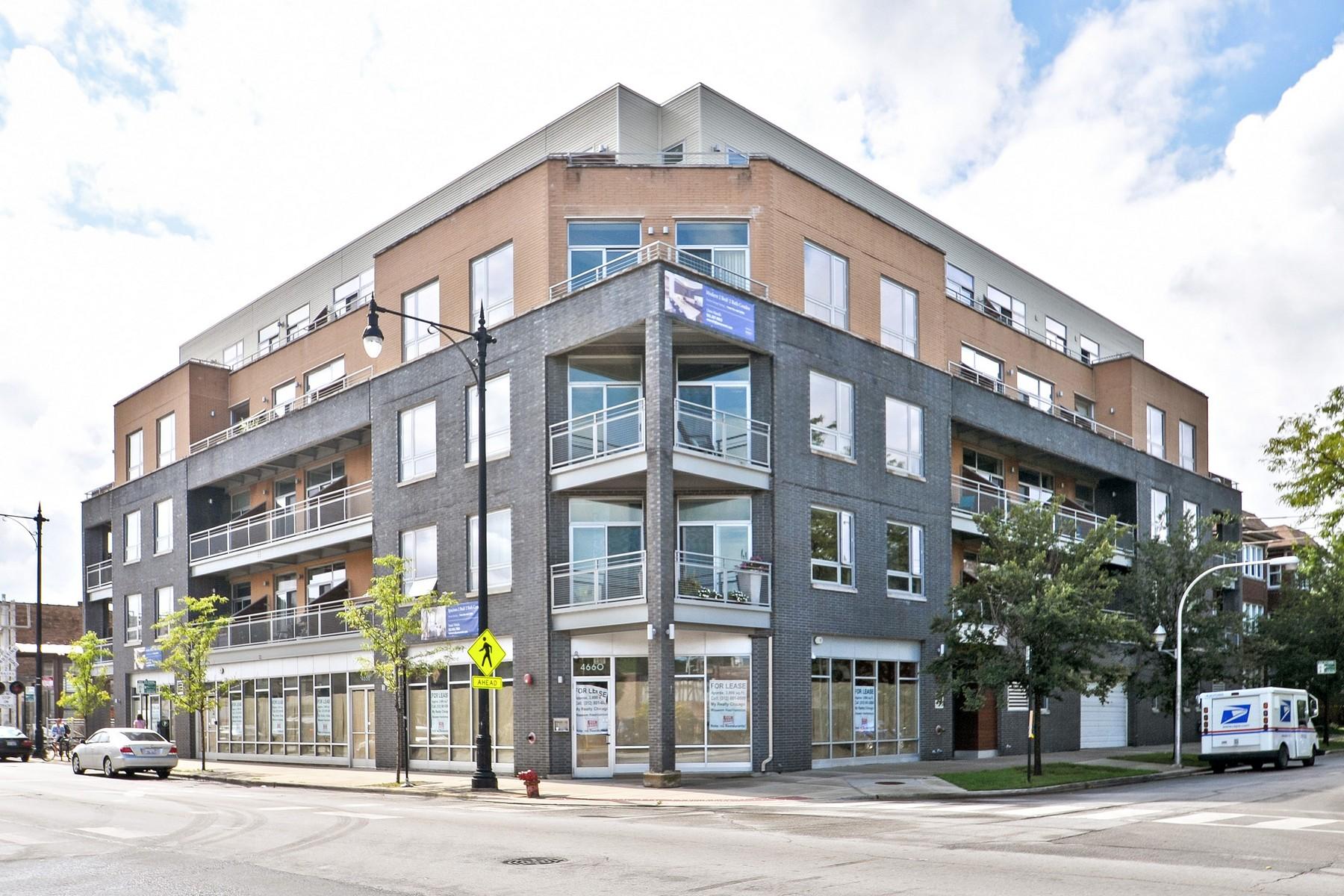 Condominium for Sale at Leland Flats New Construction 3201 W Leland Avenue Unit 211 Chicago, Illinois, 60625 United States