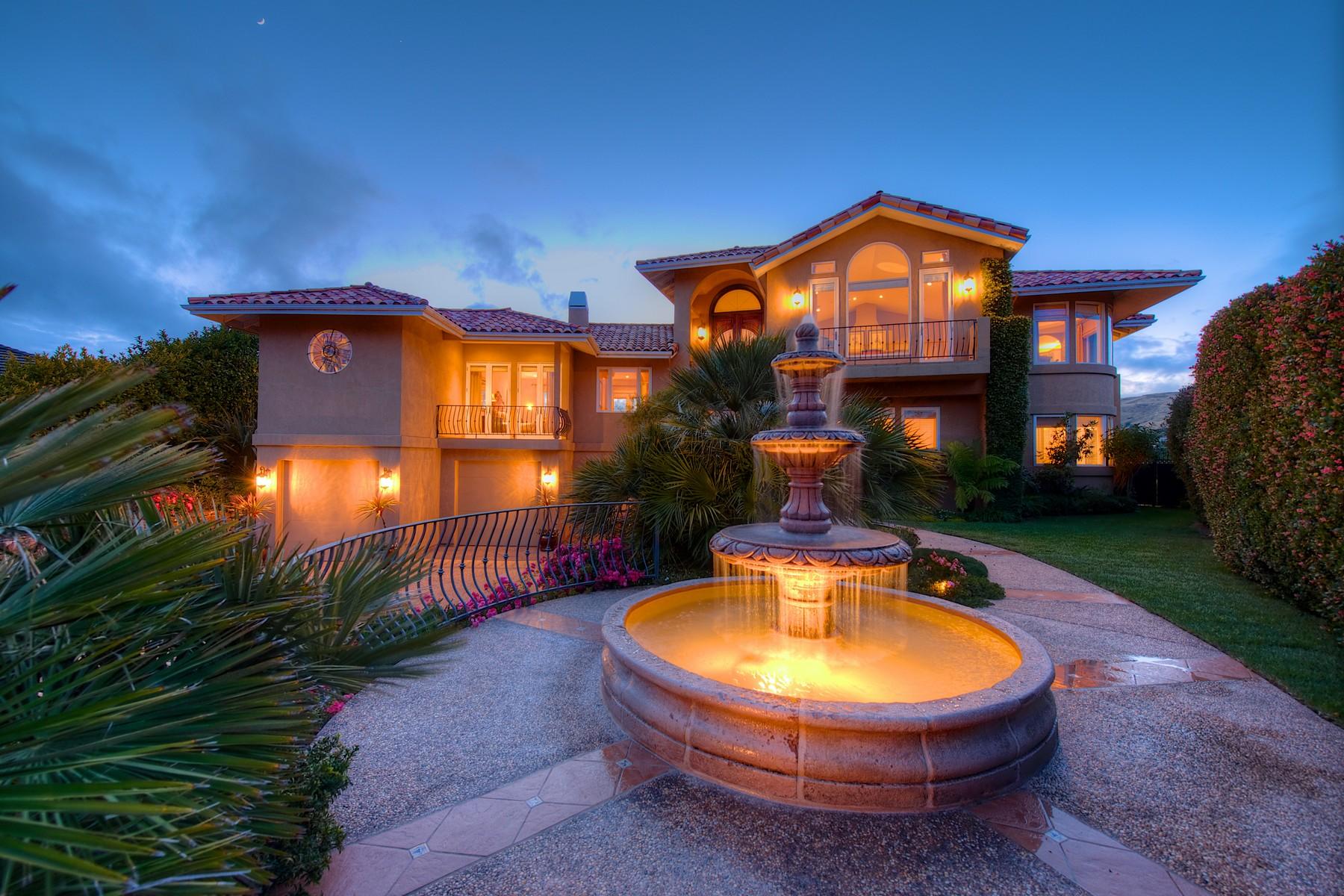 Single Family Home for Sale at Villa Del Sol ~ Mediterranean Splendor 19 Cecilia Court Tiburon, California 94920 United States