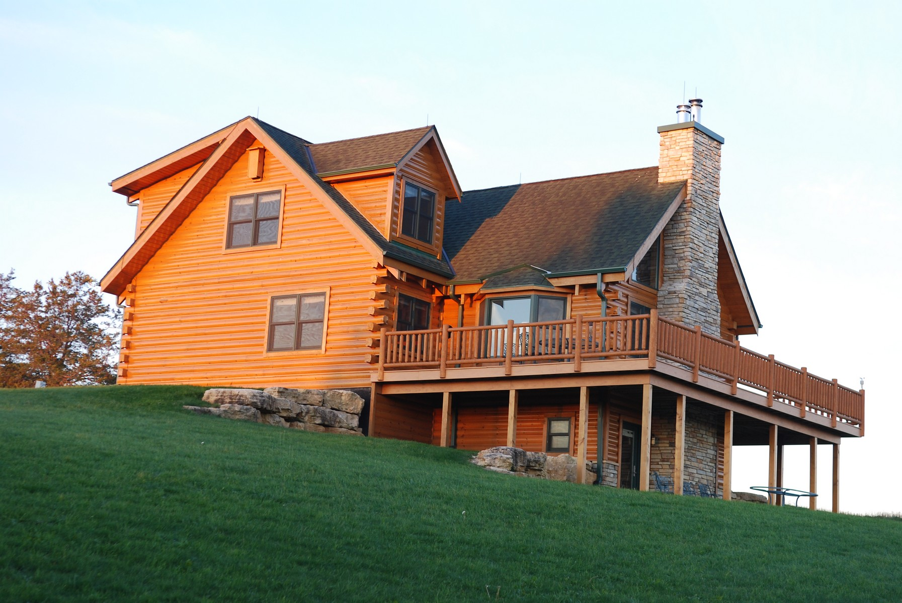 sales property at Spectacular Log Home on 16.5 Acres
