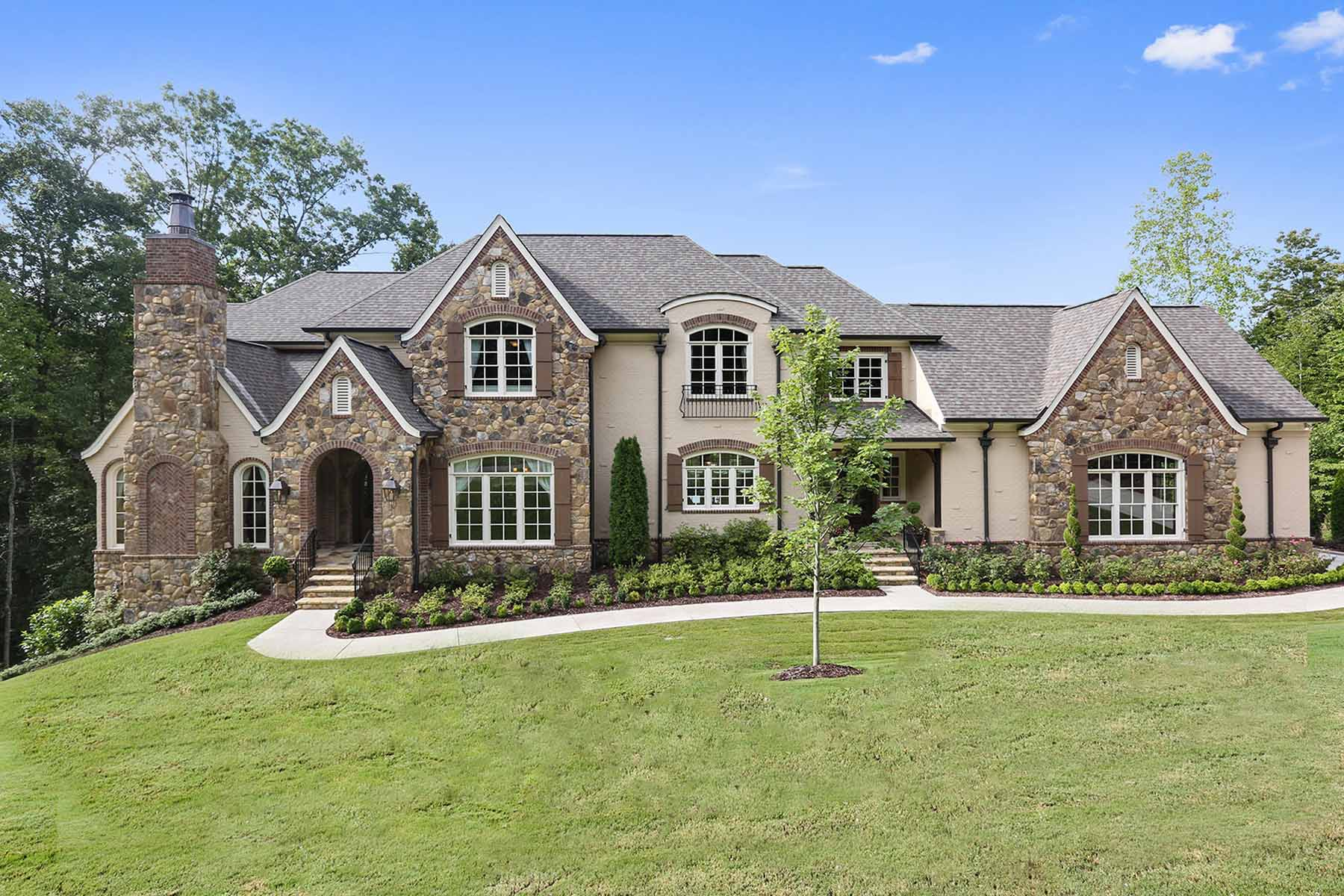 Single Family Home for Rent at Stately Home on Golf Course 271 Traditions Drive Alpharetta, Georgia 30004 United States