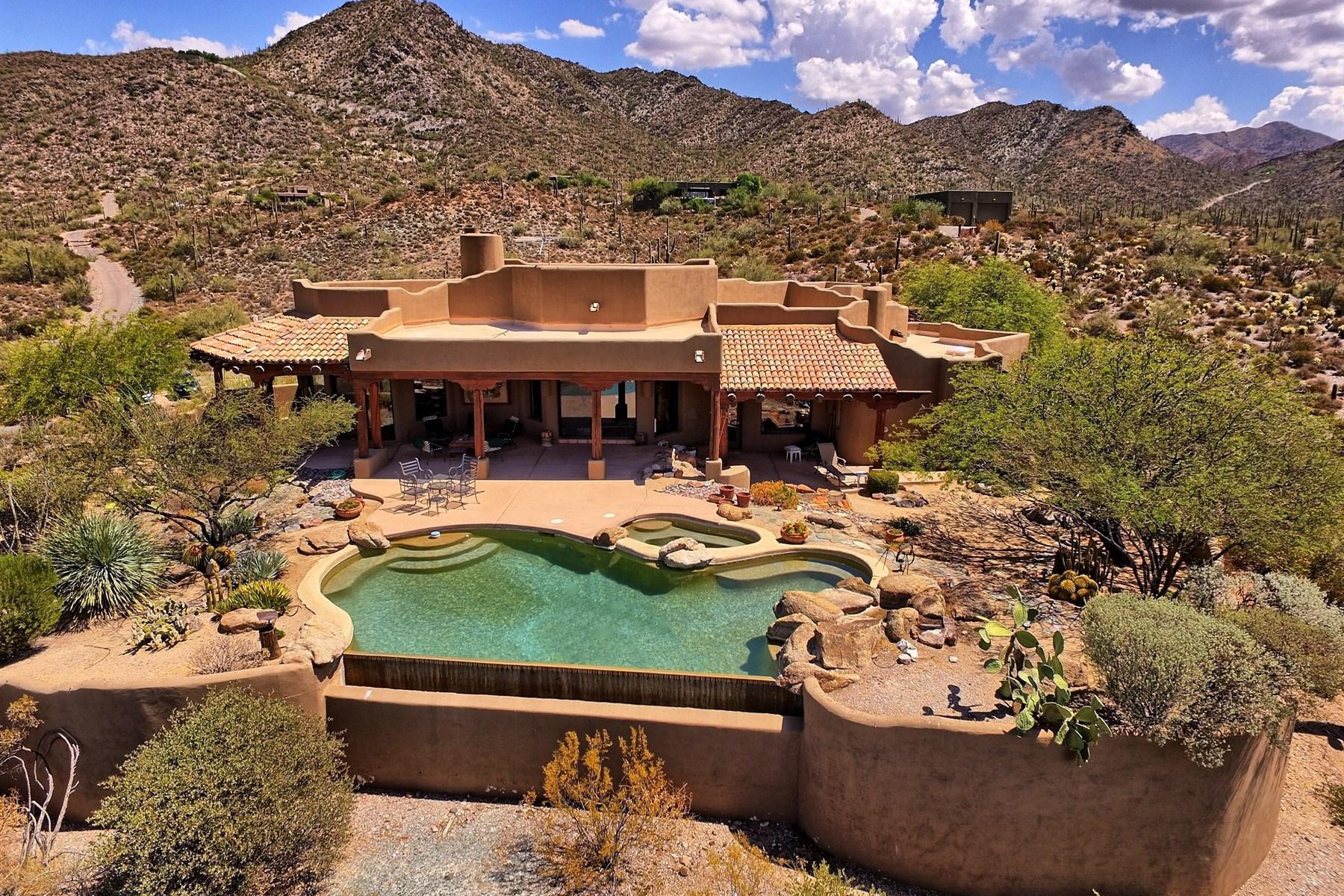 단독 가정 주택 용 매매 에 Soft Southwestern Santa Fe home with amazing views 43311 N Cottonwood Canyon Rd Cave Creek, 아리조나, 85331 미국