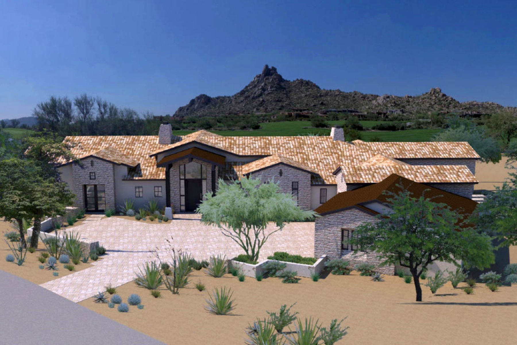 Casa para uma família para Venda às New Custom Home Under Construction In The World-Renowned Community Of Estancia 27210 N 103rd Way Scottsdale, Arizona 85262 Estados Unidos